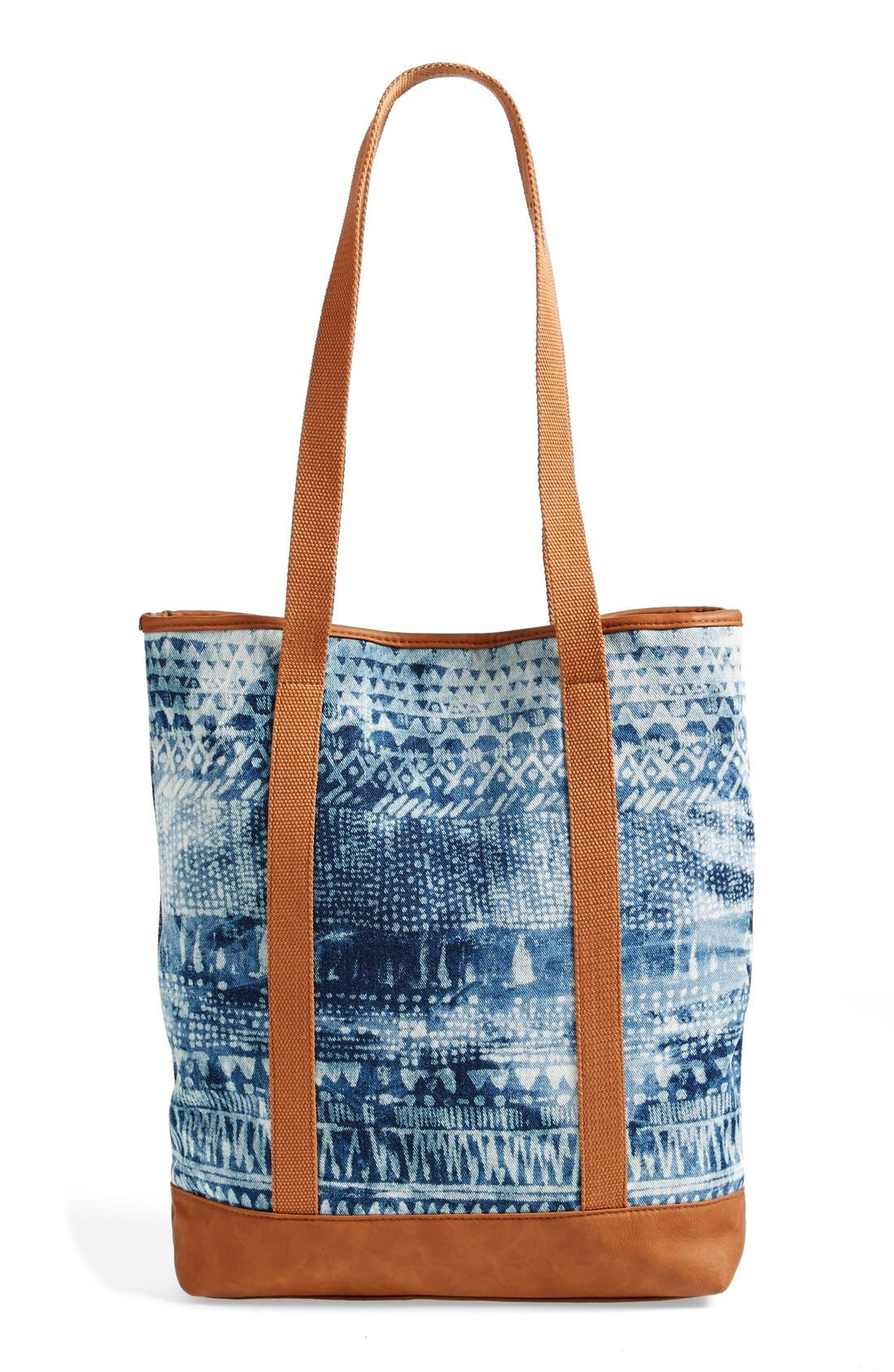 VOLCOM,                             'Thrifty Fun' Bleach Pattern Tote,                             Alternate thumbnail 3, color,                             200