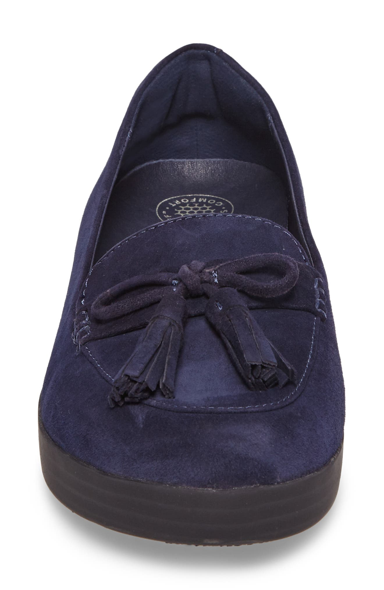 Tassel Bow Sneakerloafer<sup>™</sup> Water Repellent Flat,                             Alternate thumbnail 15, color,
