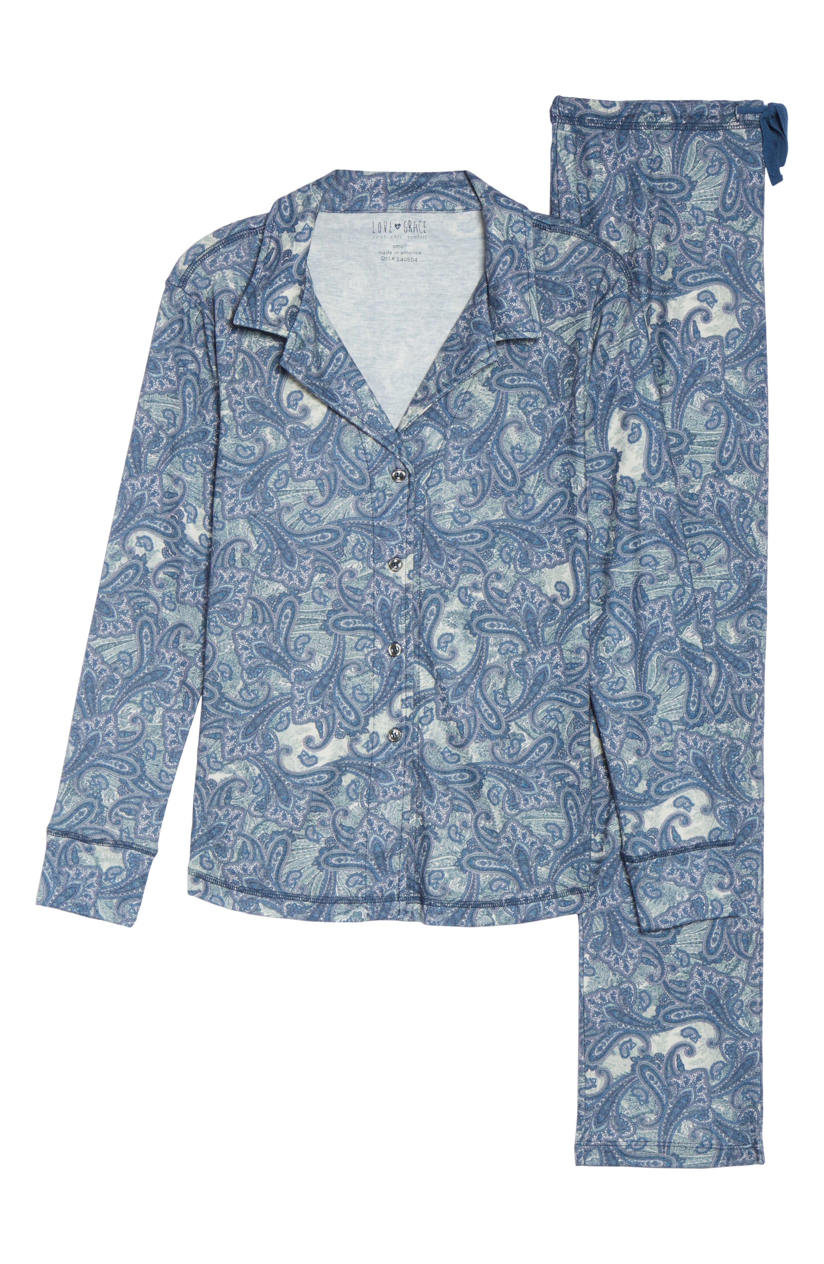 Clara Flannel Pajamas,                             Alternate thumbnail 6, color,                             400