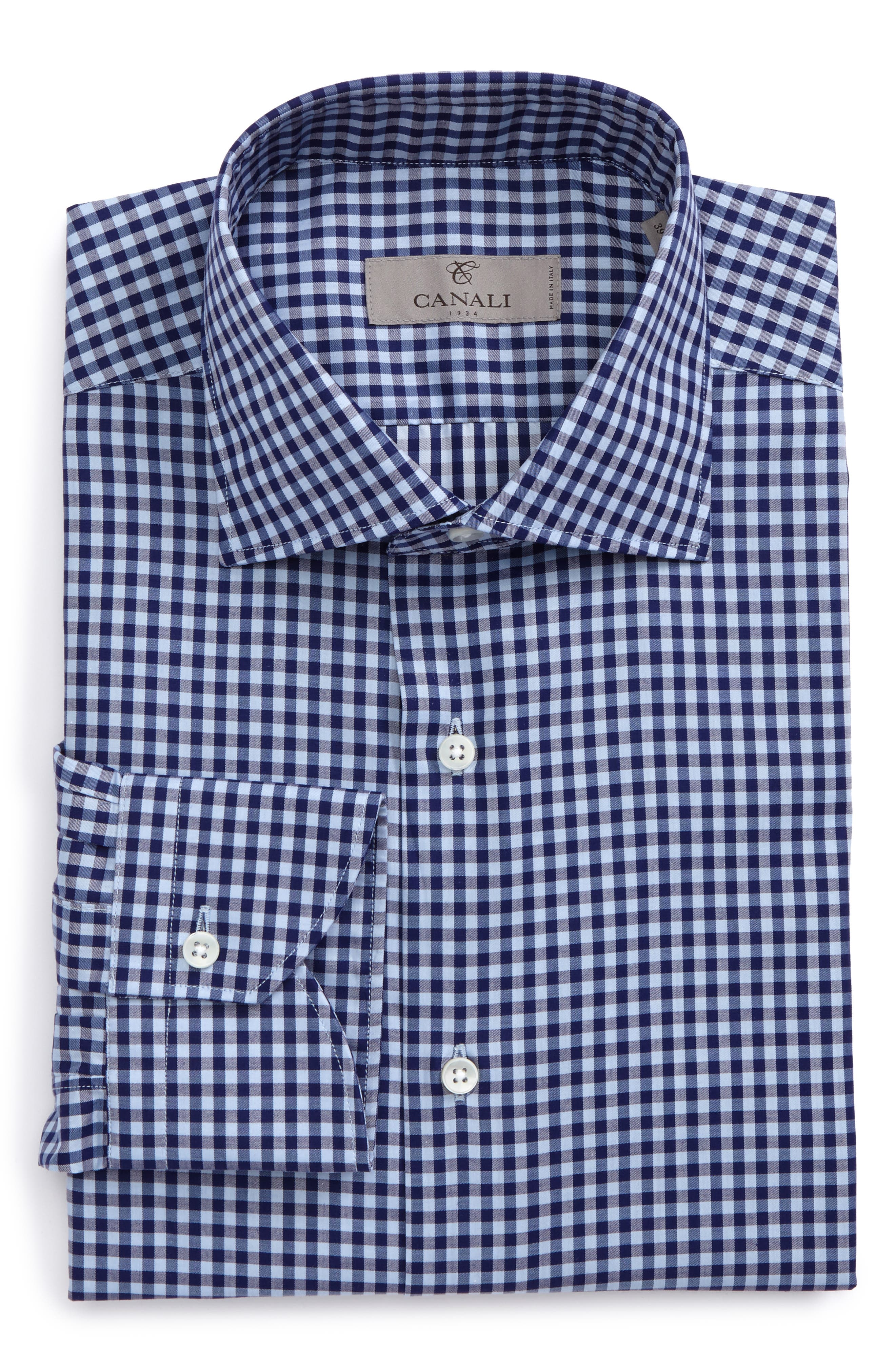 Regular Fit Check Dress Shirt,                         Main,                         color, 400