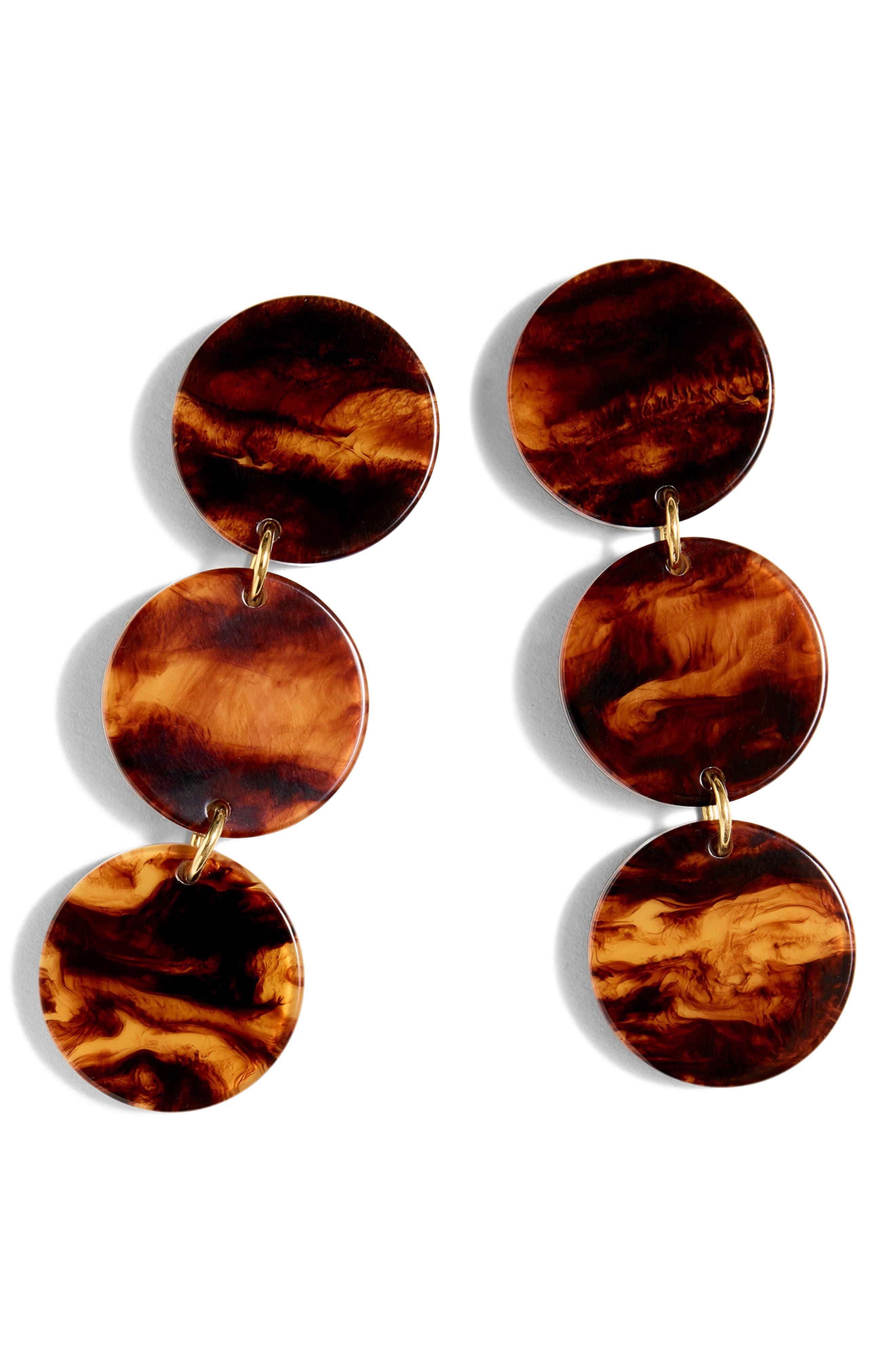 Resin Disc Drop Earrings,                         Main,                         color, 250
