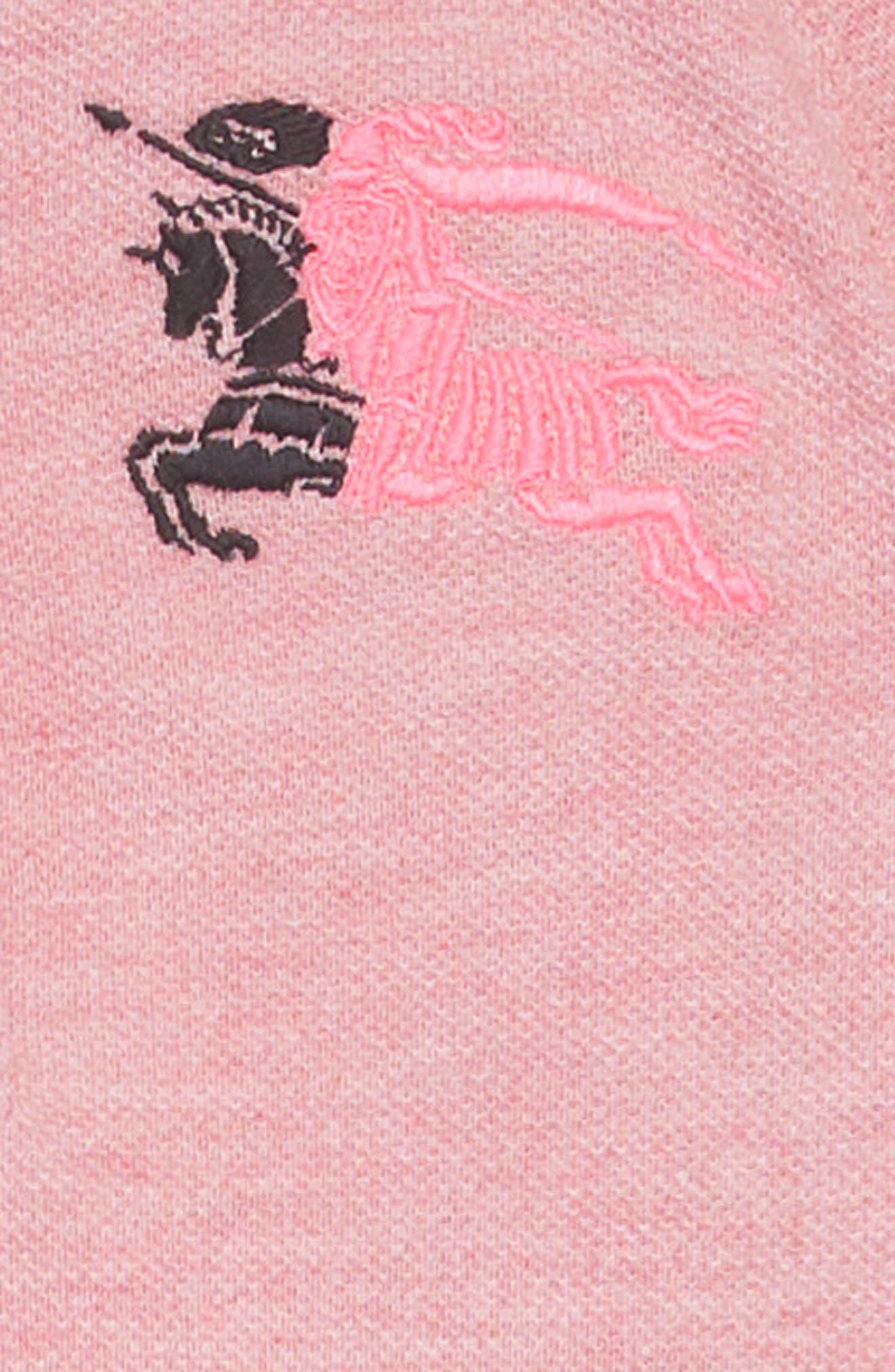 Mollyanna Polo Dress,                             Alternate thumbnail 3, color,                             PALE PINK MELANGE