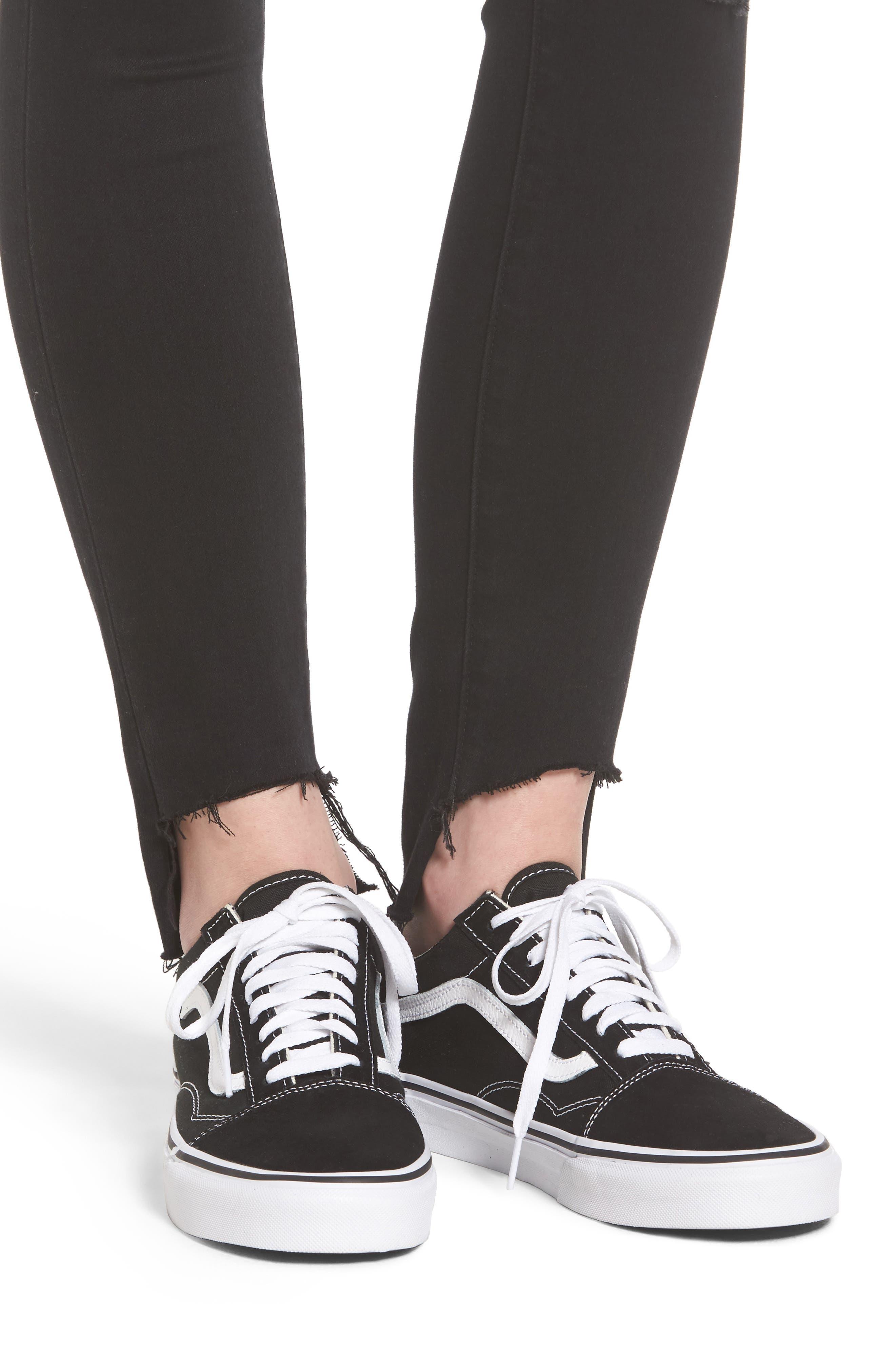 Stephanie Step Hem Skinny Jeans,                             Alternate thumbnail 4, color,