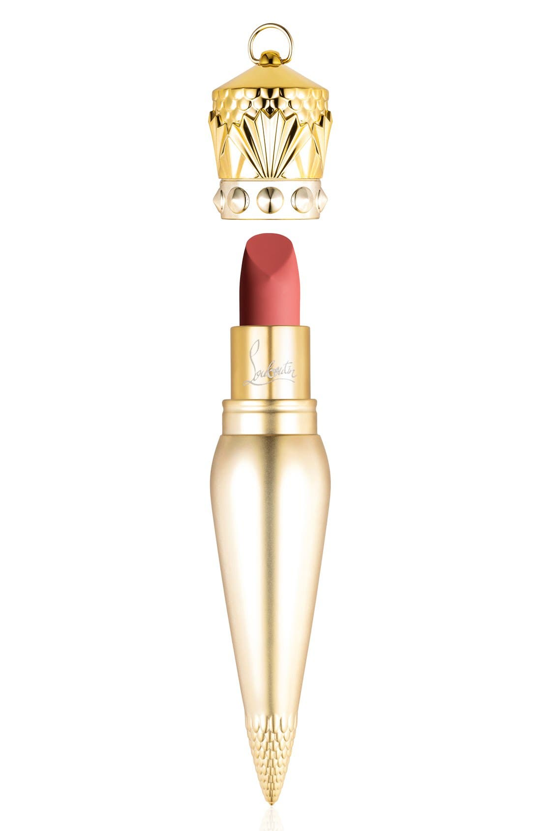 CHRISTIAN LOUBOUTIN,                             Velvet Matte Lip Colour,                             Main thumbnail 1, color,                             ROCOCOTTE 215M
