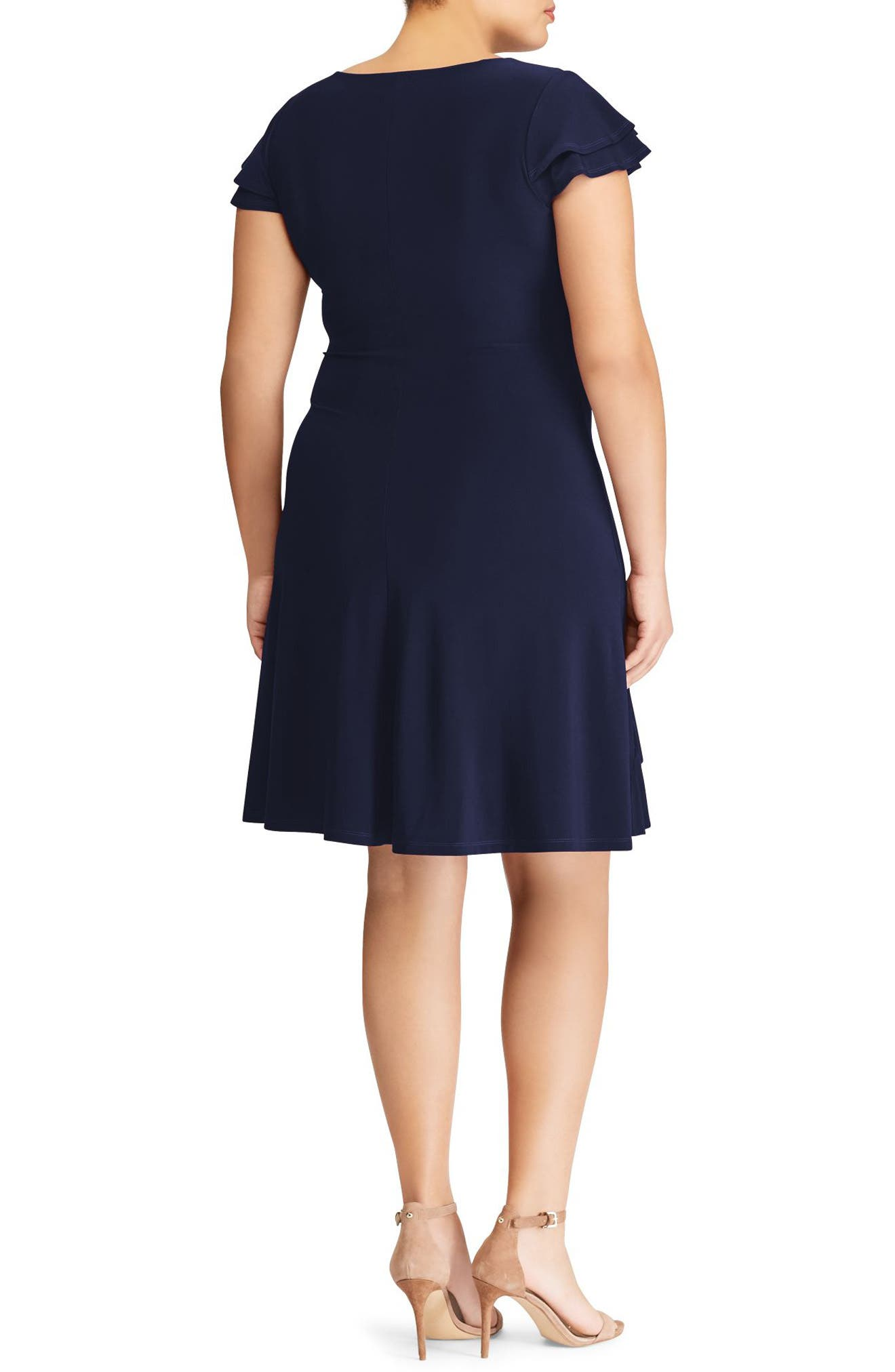 Hartley Ruffle Fit & Flare Dress,                             Alternate thumbnail 2, color,                             410