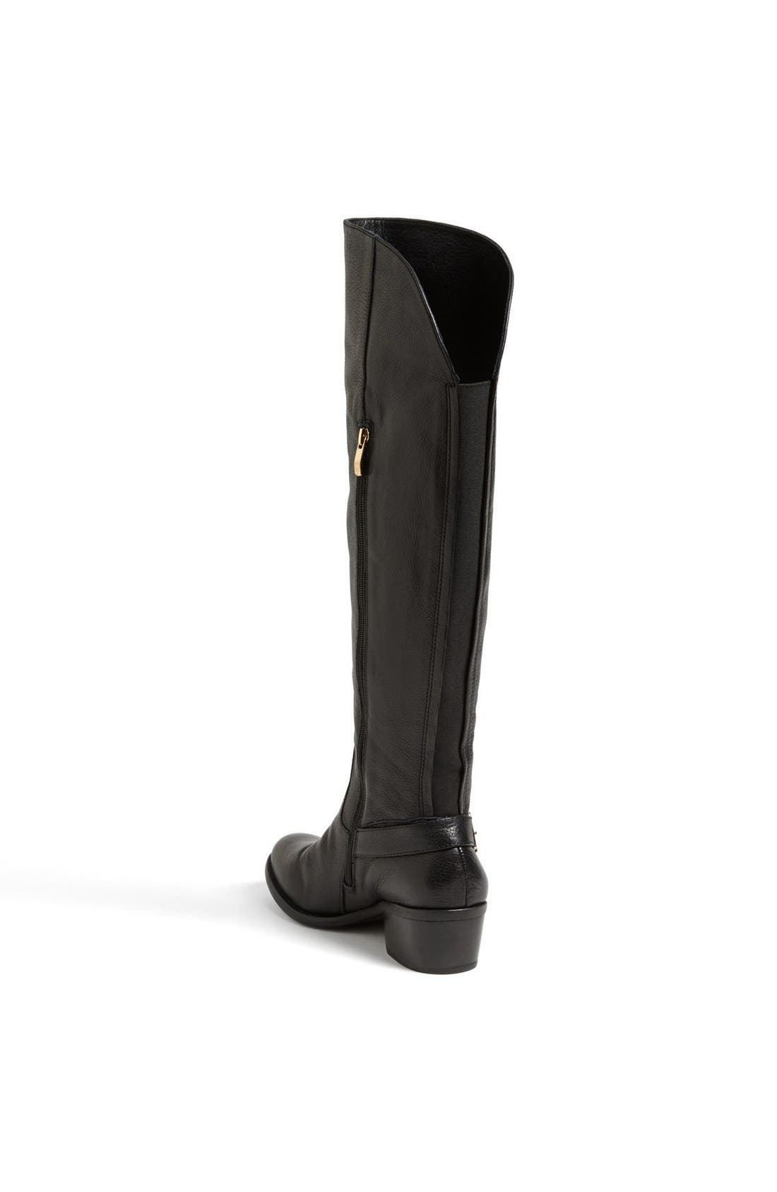 'Bedina' Over the Knee Boot,                             Alternate thumbnail 4, color,                             001