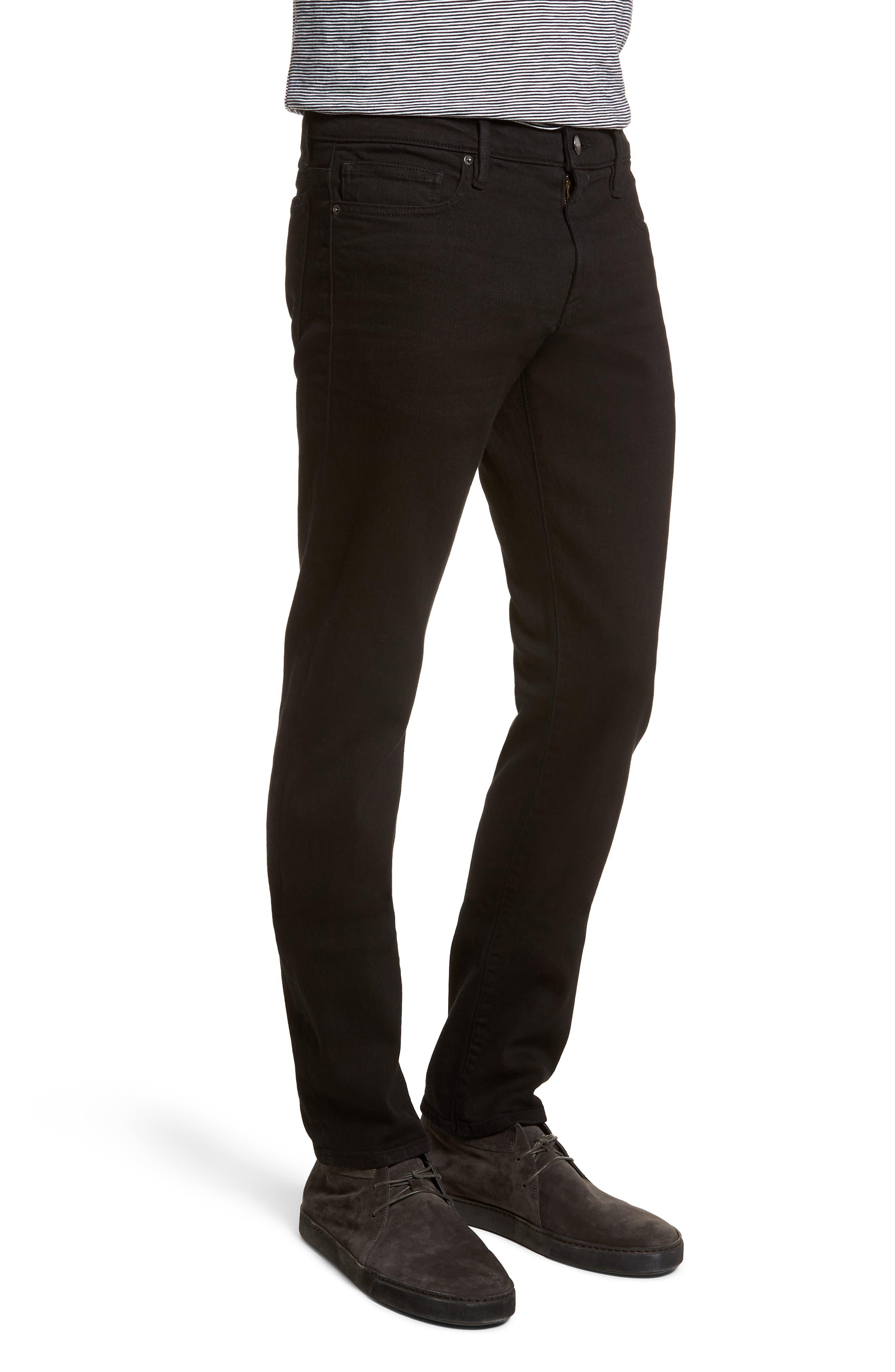 L'Homme Slim Fit Jeans,                             Alternate thumbnail 3, color,                             NOIR