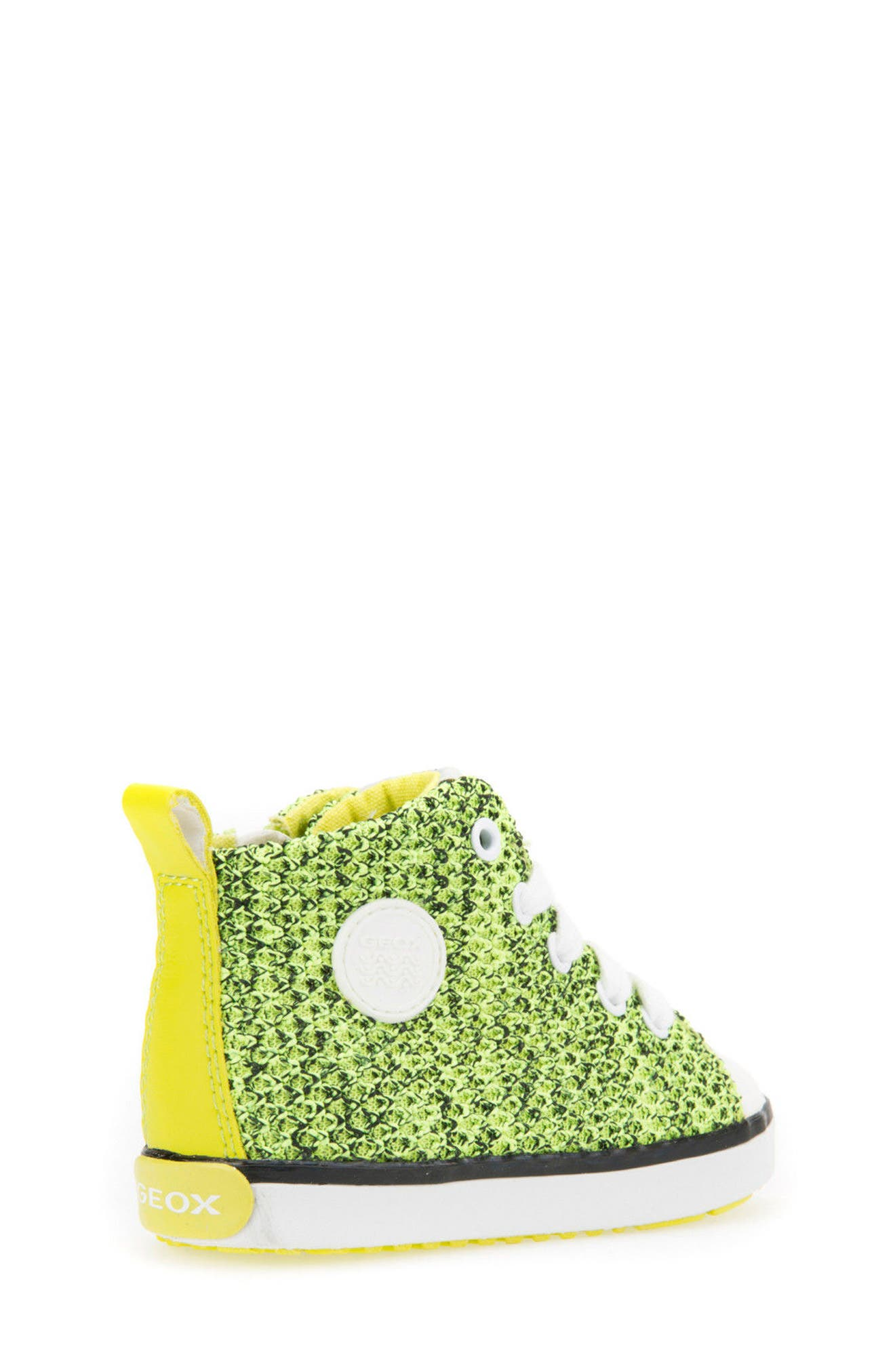 Kilwi Knit High Top Sneaker,                             Alternate thumbnail 2, color,                             LIME GREEN