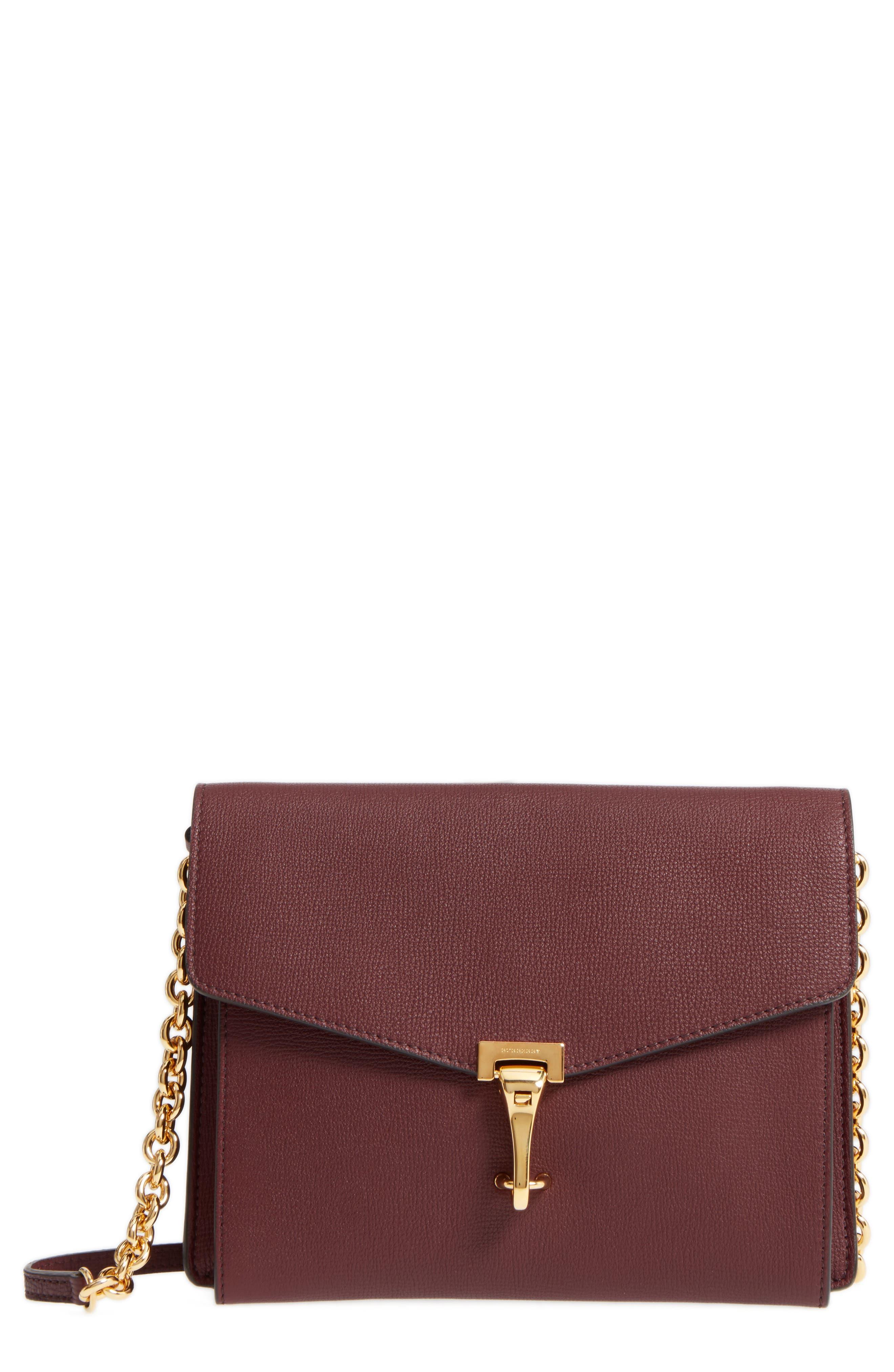Macken Leather Derby Crossbody Bag,                             Main thumbnail 1, color,                             606