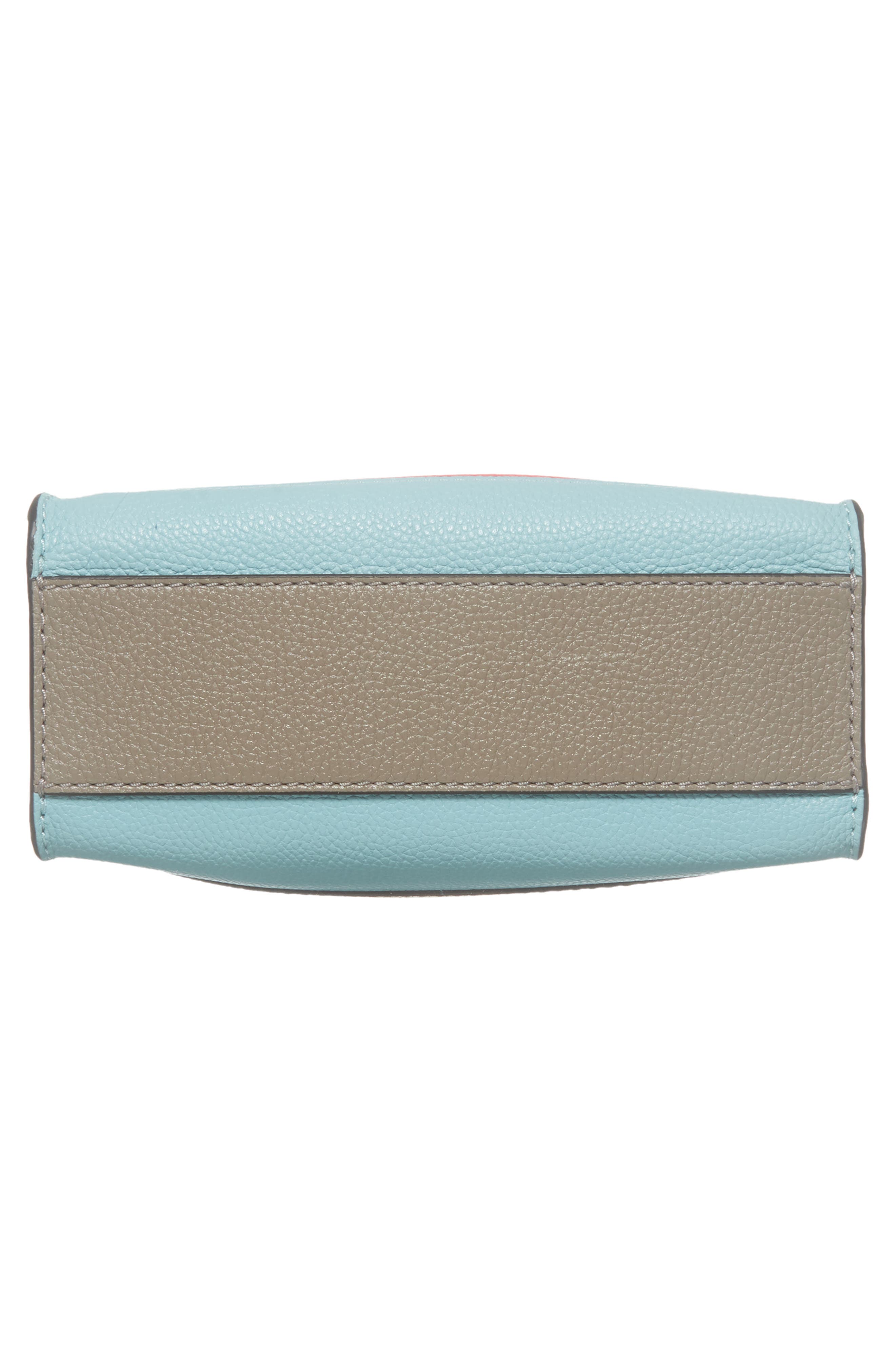 Mini Grid Leather Tote,                             Alternate thumbnail 6, color,