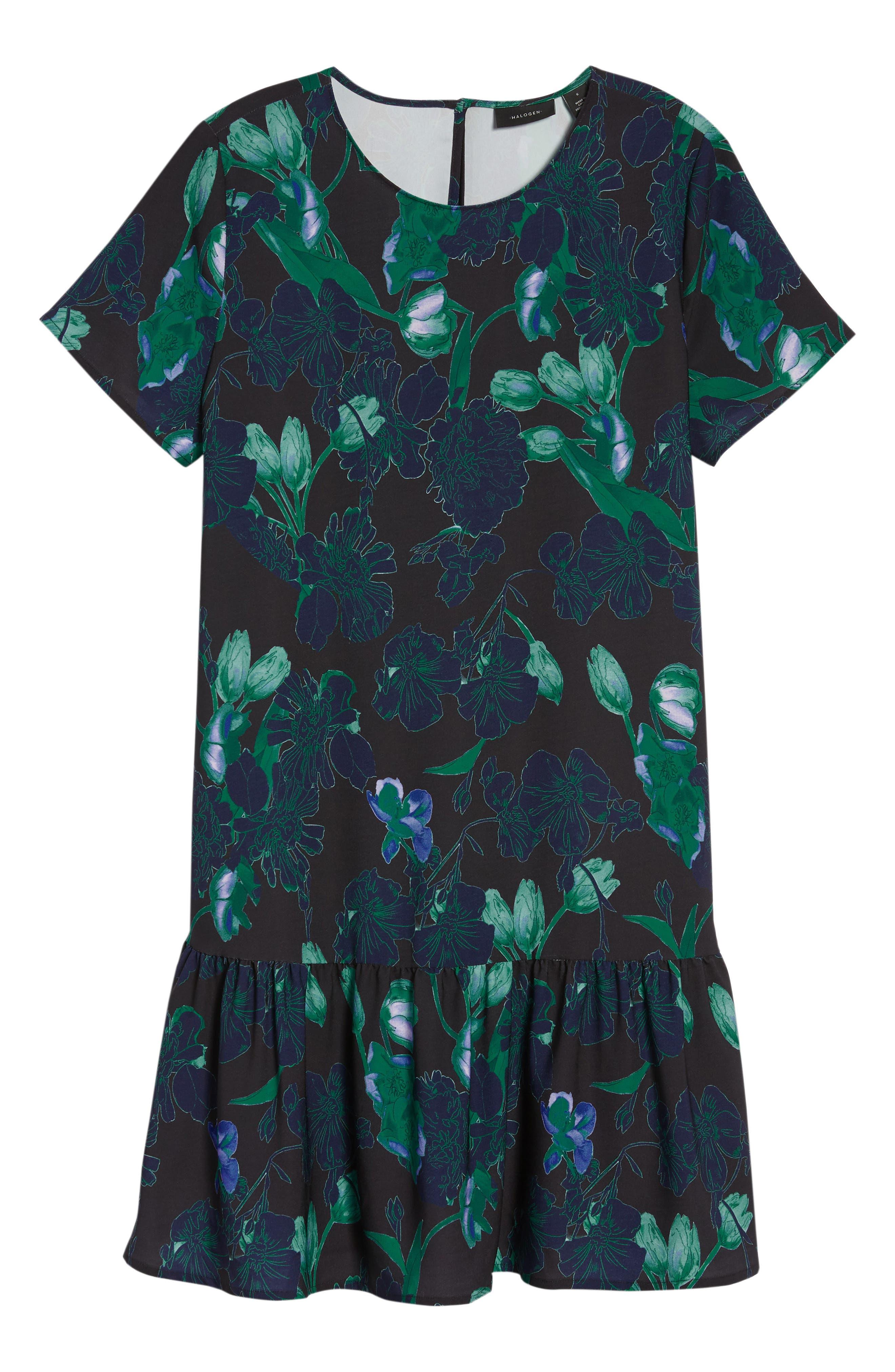 Short Sleeve Ruffle Hem Dress,                             Alternate thumbnail 38, color,