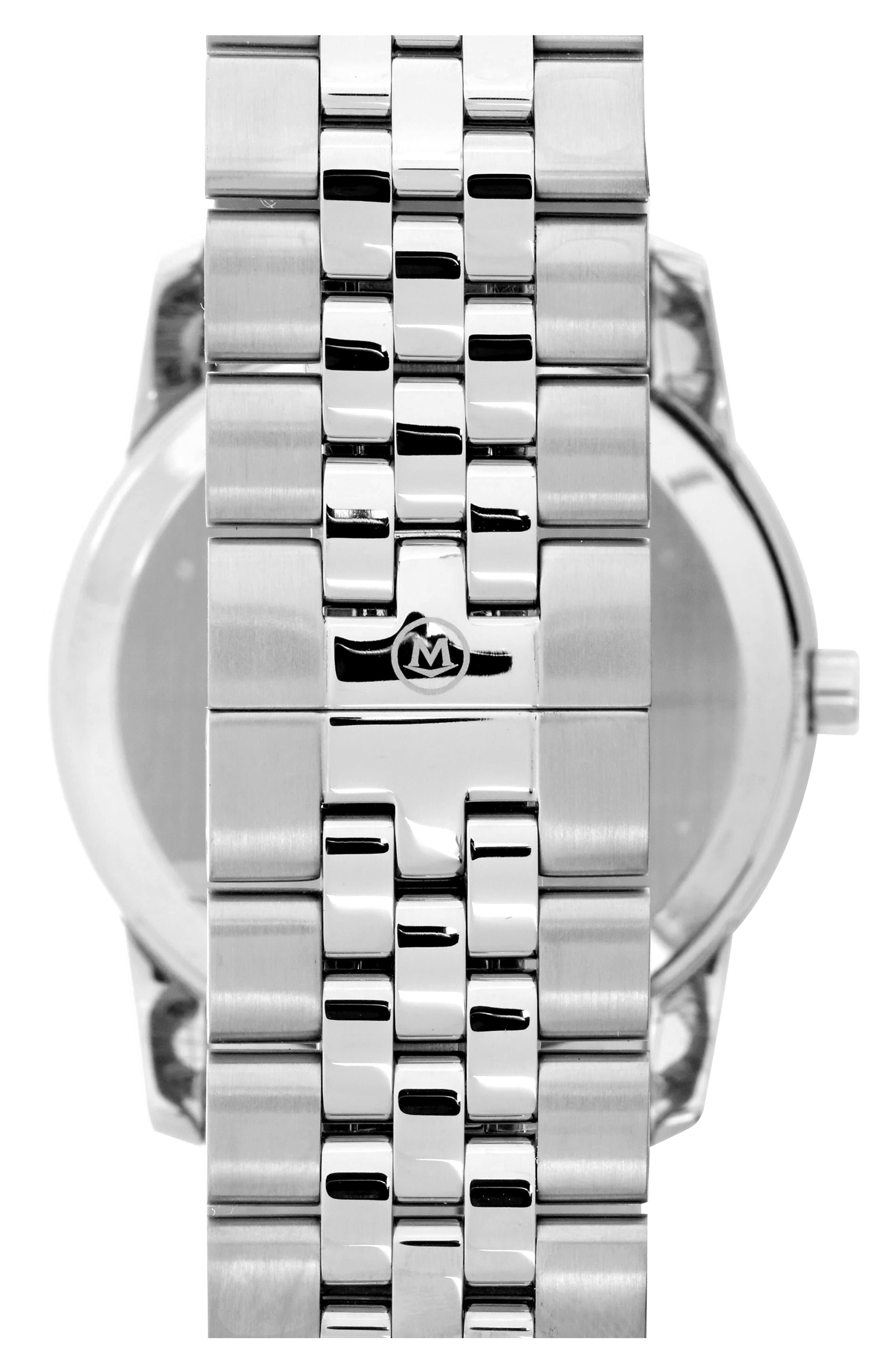 'Museum' Bracelet Watch, 40mm,                             Alternate thumbnail 3, color,                             040