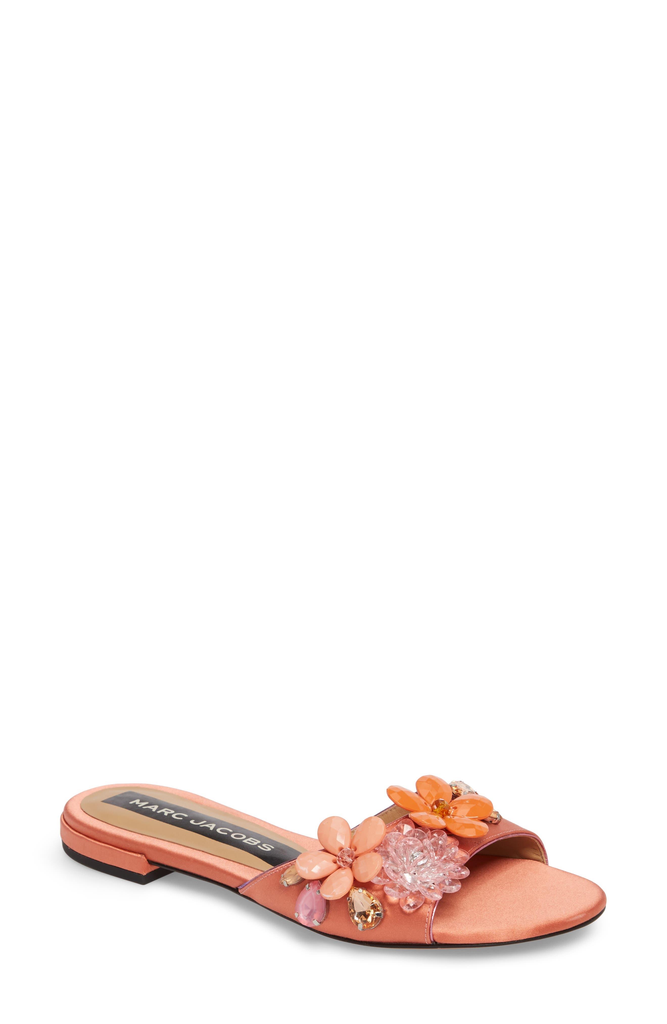 Clara Embellished Slide Sandal,                             Main thumbnail 1, color,                             659