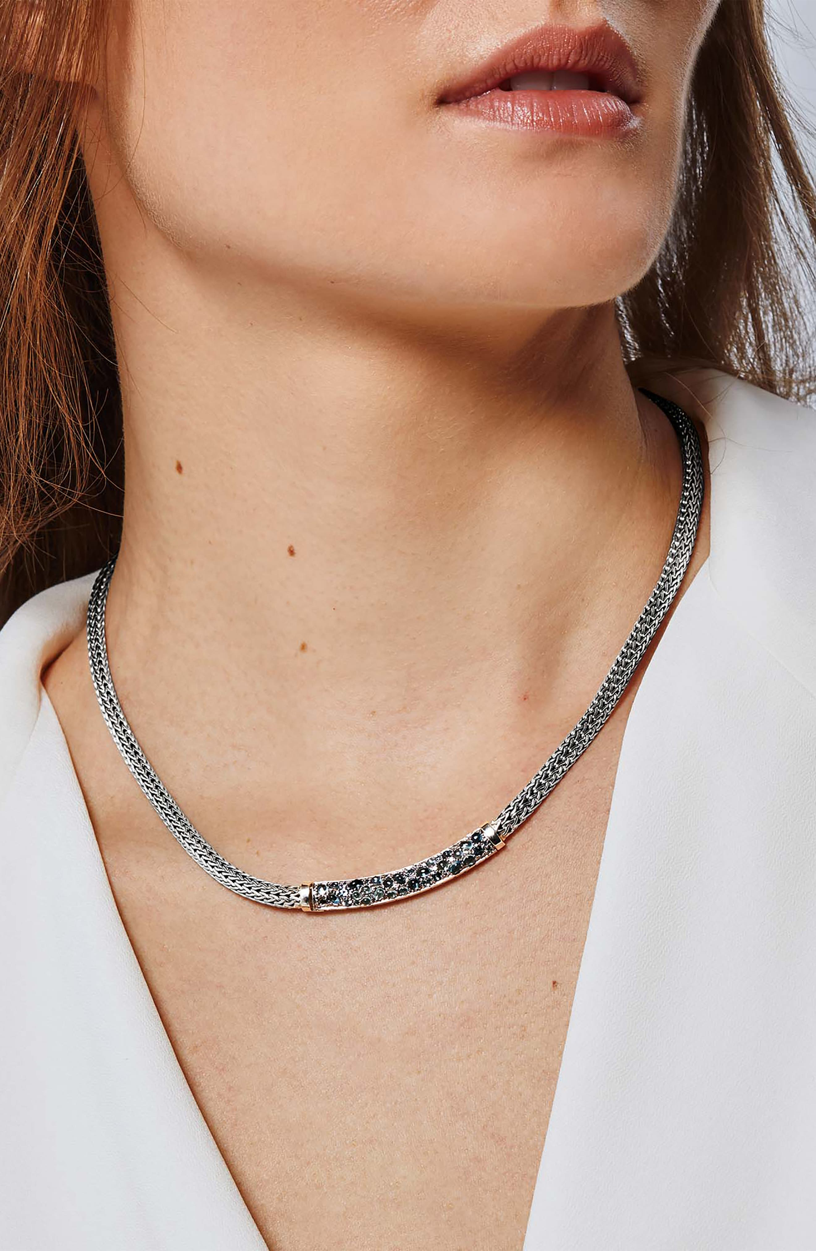 Classic Chain Lava Extra-Small Chain Necklace,                             Alternate thumbnail 2, color,                             BLUE