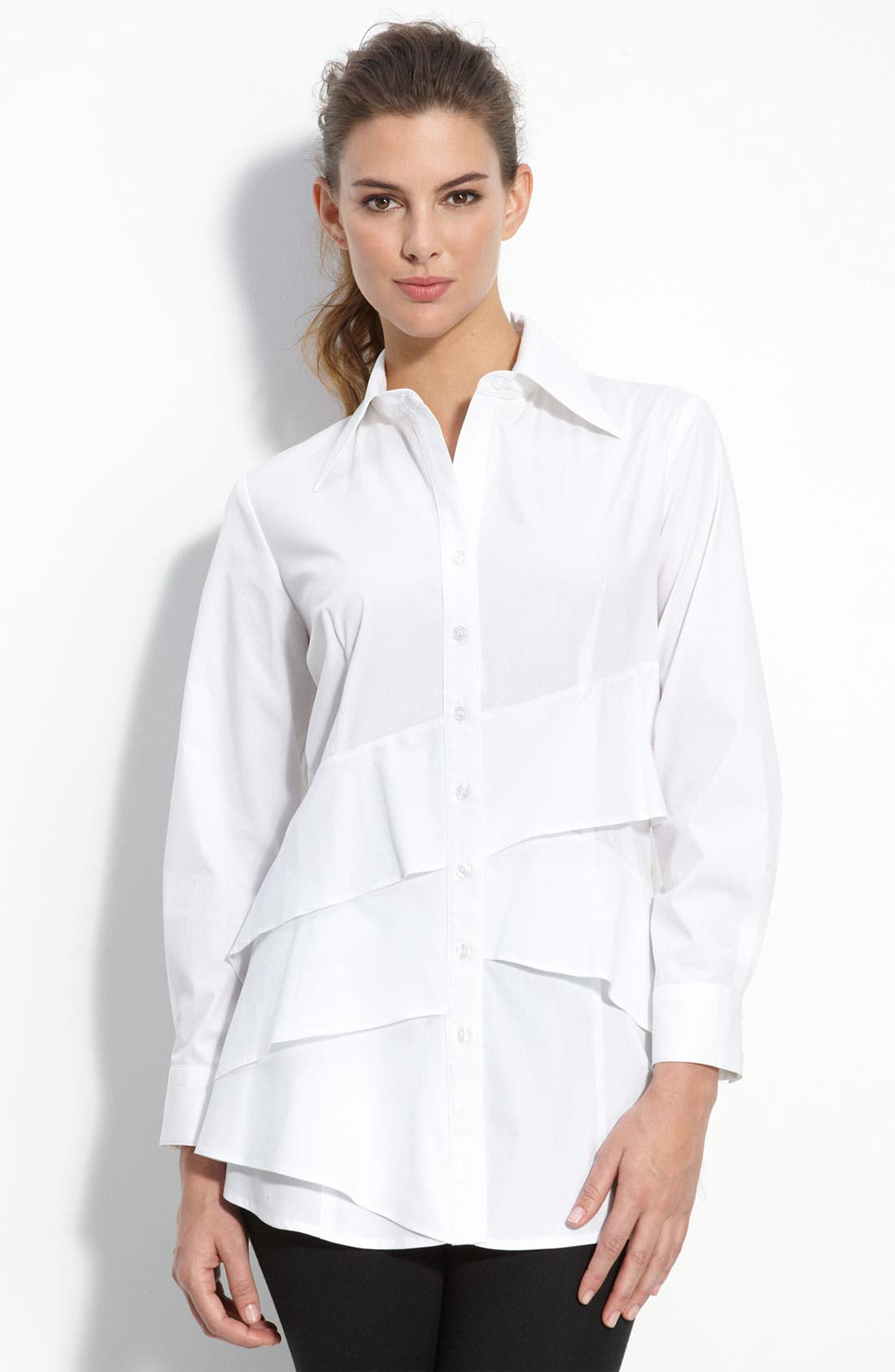 'Jenna' Tiered Shirt, Main, color, 100