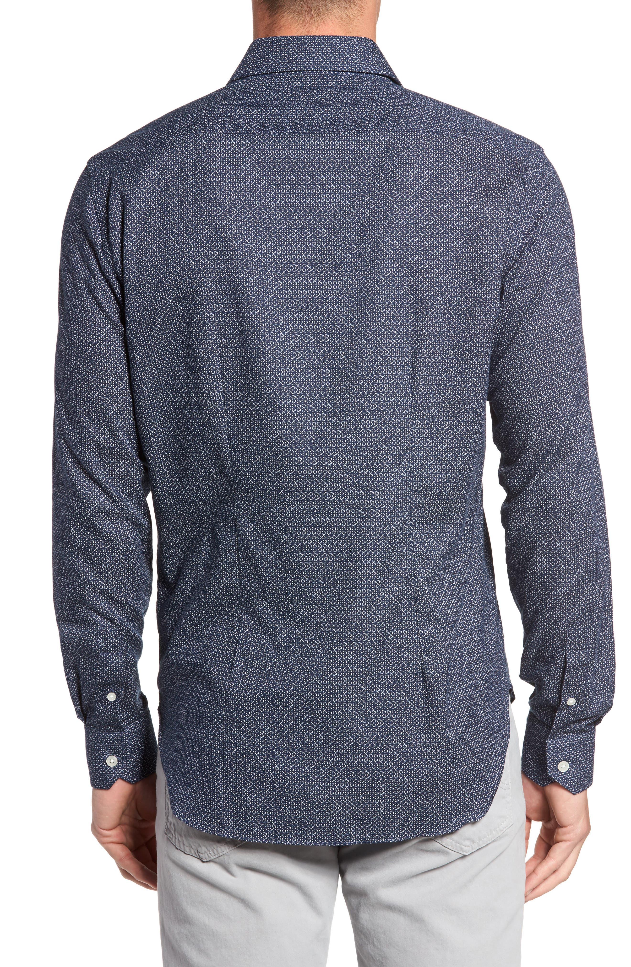 Trim Fit Abstract Print Sport Shirt,                             Alternate thumbnail 2, color,                             400