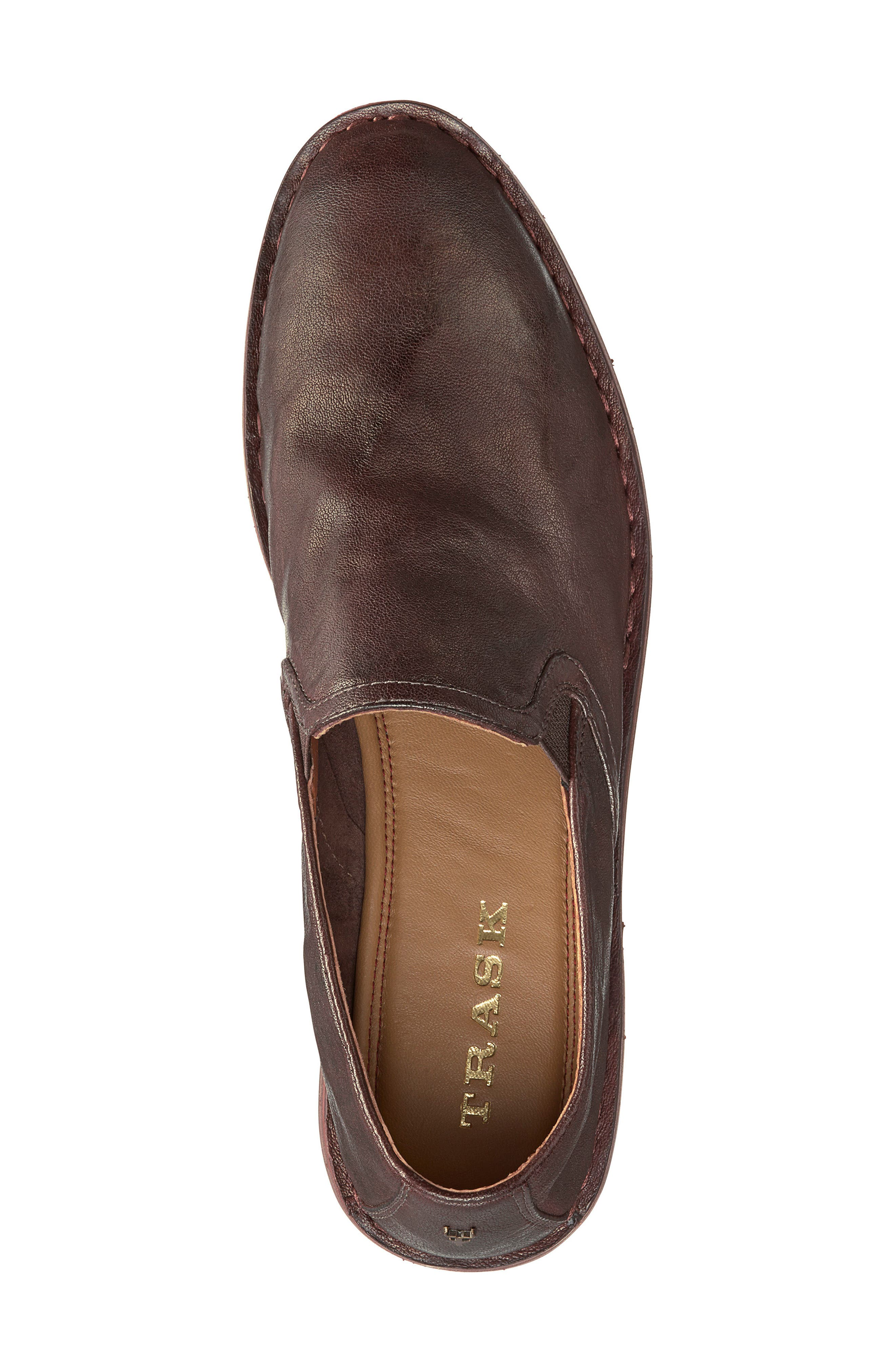 'Ali' Flat,                             Alternate thumbnail 5, color,                             BROWN LEATHER