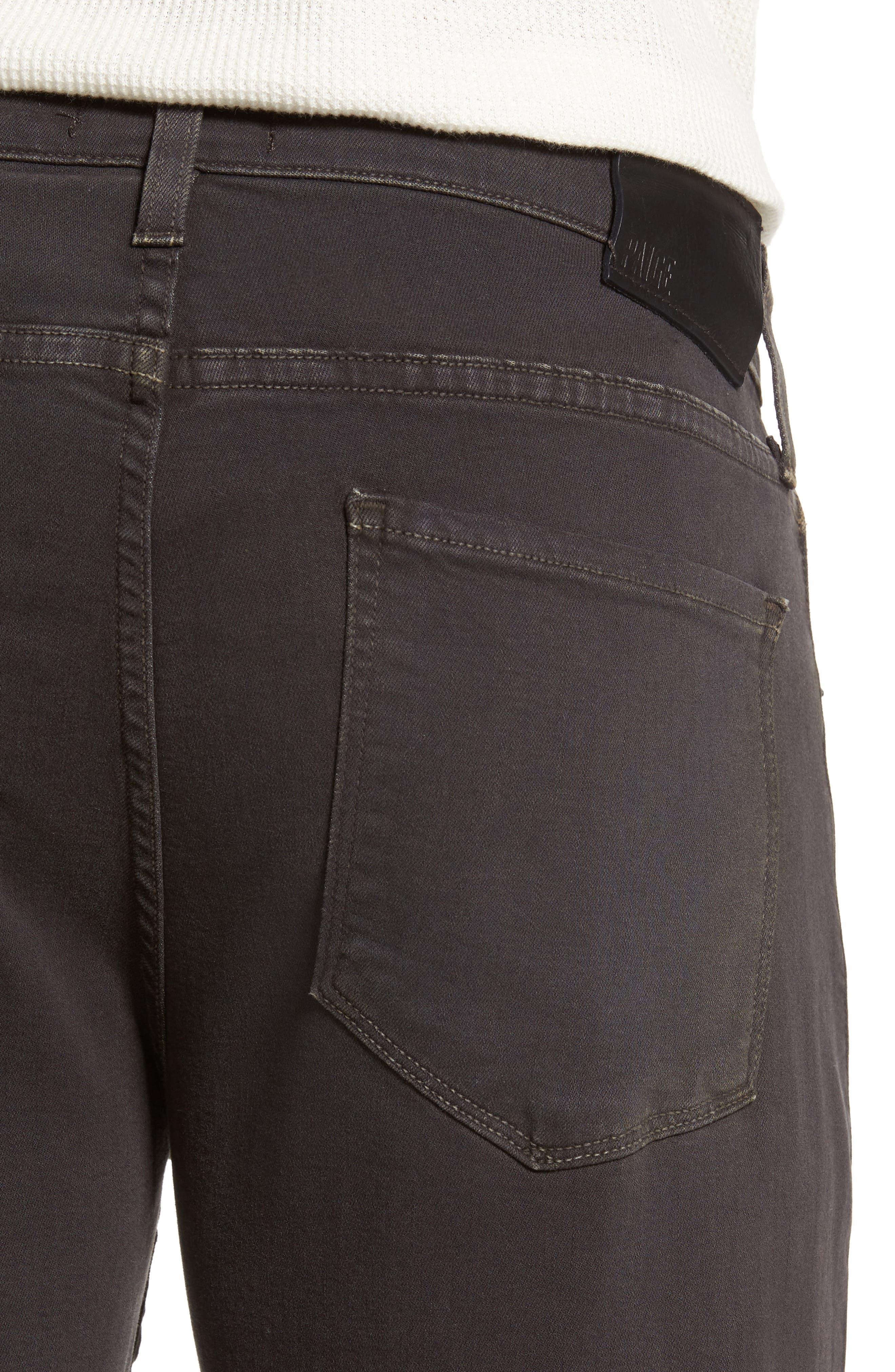 Transcend - Federal Slim Straight Leg Jeans,                             Alternate thumbnail 4, color,                             001