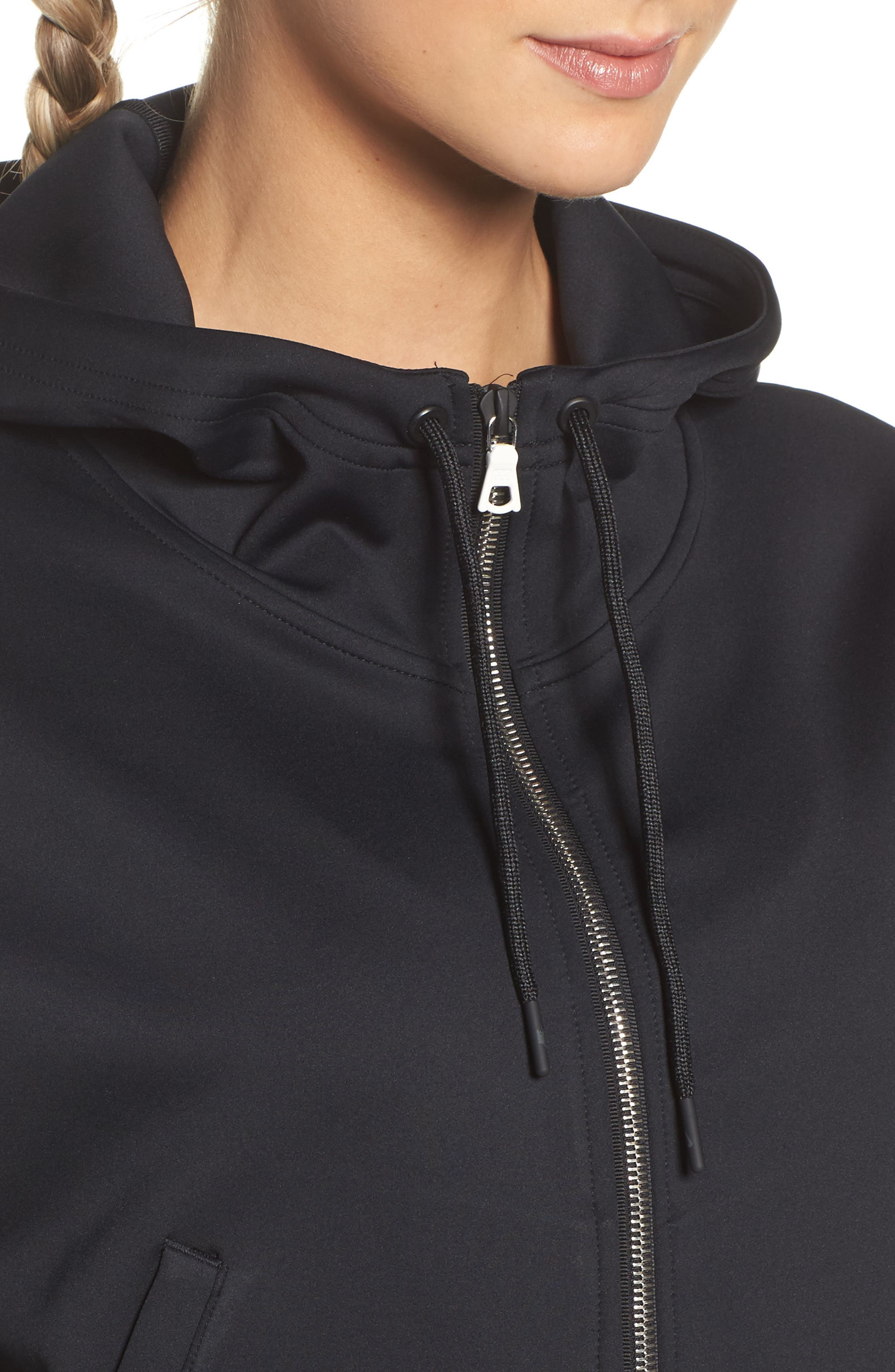Essential Cropped Hoodie,                             Alternate thumbnail 4, color,                             010