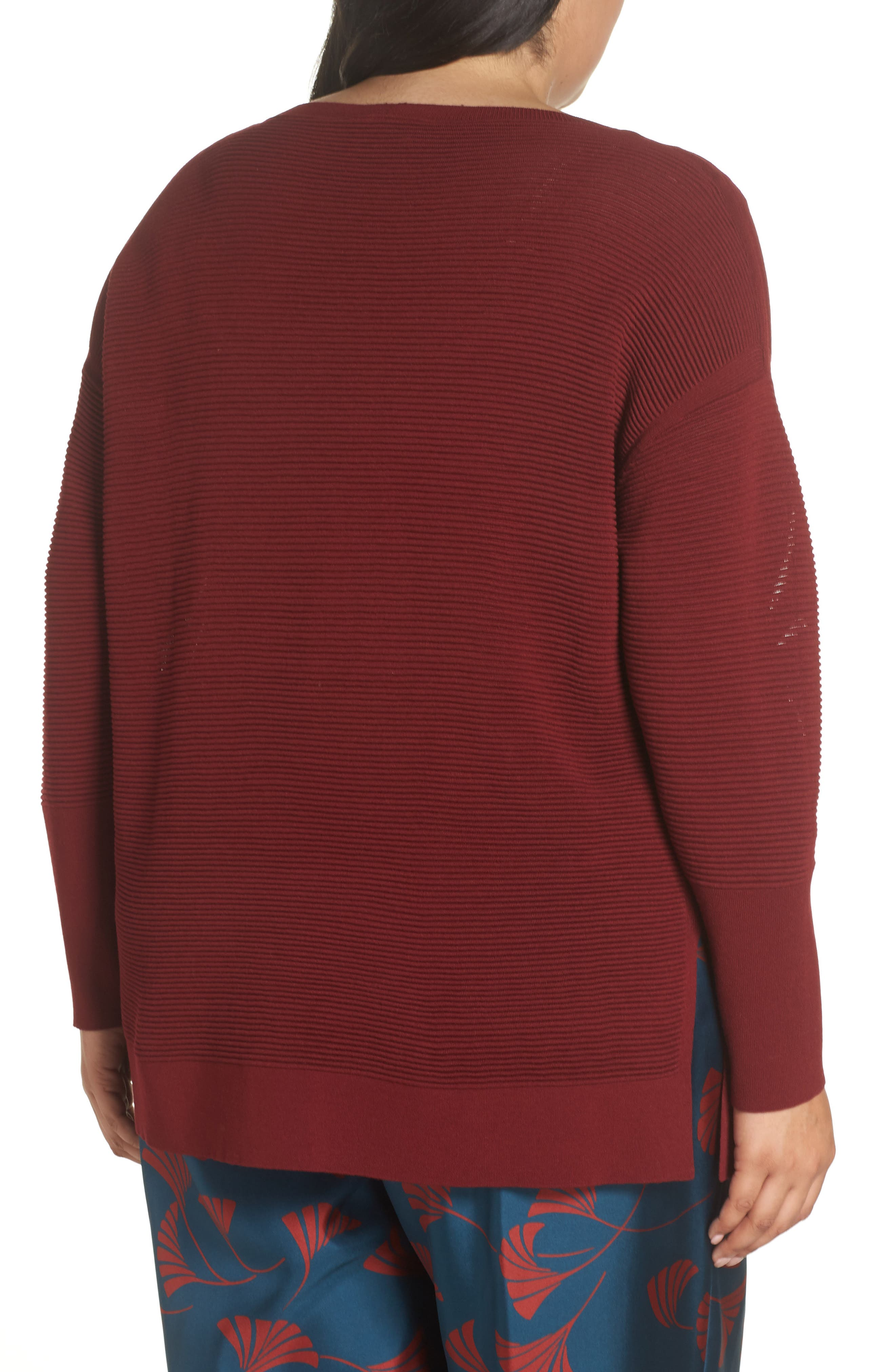 LAFAYETTE 148 NEW YORK,                             Bateau Neck Matte Crepe Sweater,                             Alternate thumbnail 2, color,                             601
