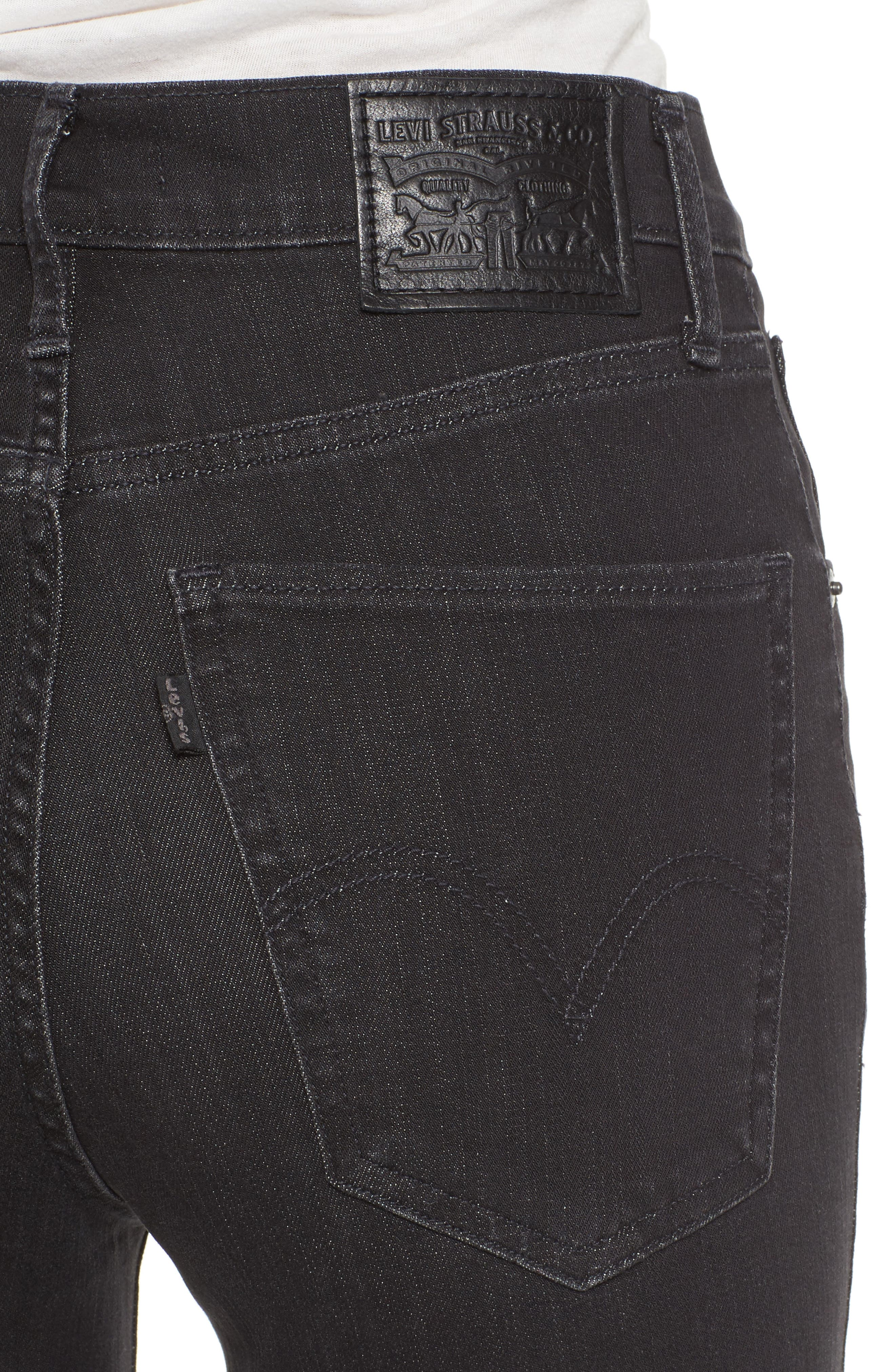 Mile High High Rise Skinny Jeans,                             Alternate thumbnail 4, color,                             001