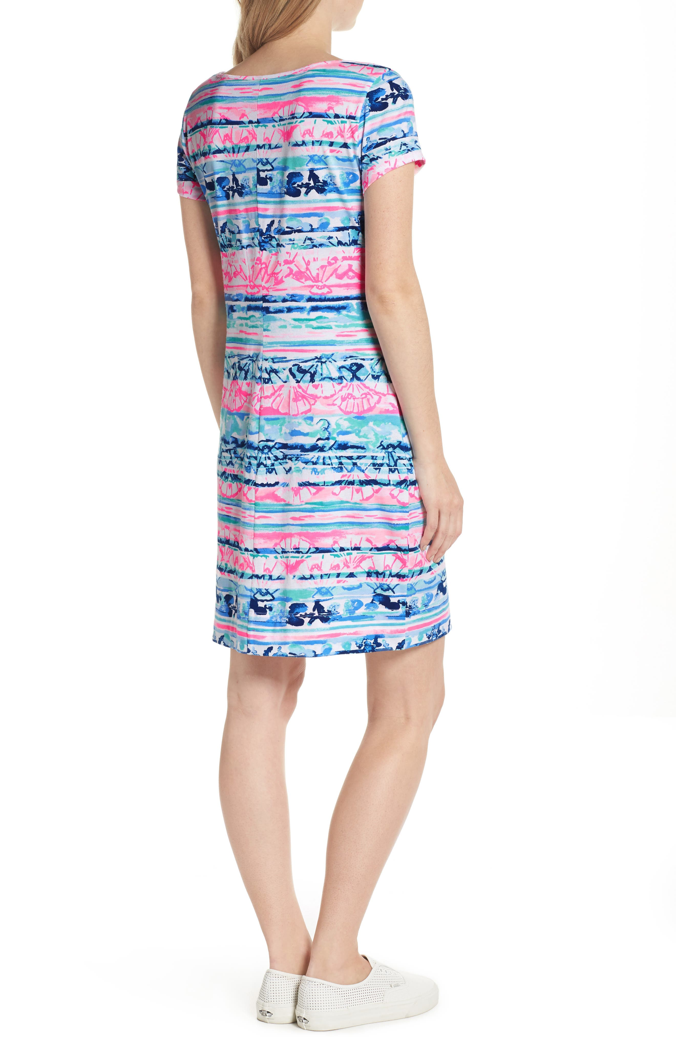 Marlowe T-Shirt Dress,                             Alternate thumbnail 2, color,                             MULTI A WAVE FROM IT