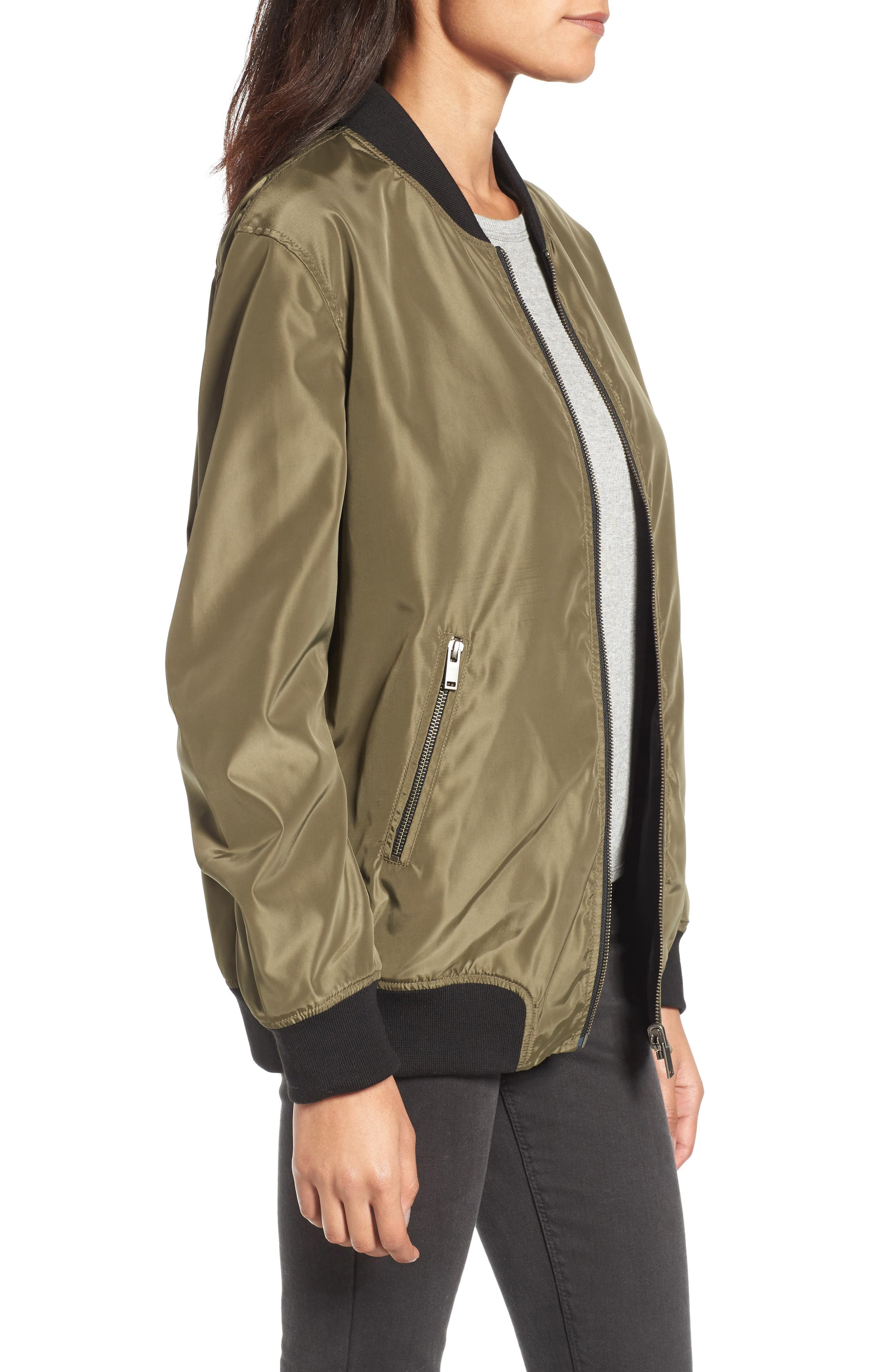 Reversible Bomber Jacket,                             Alternate thumbnail 3, color,                             311