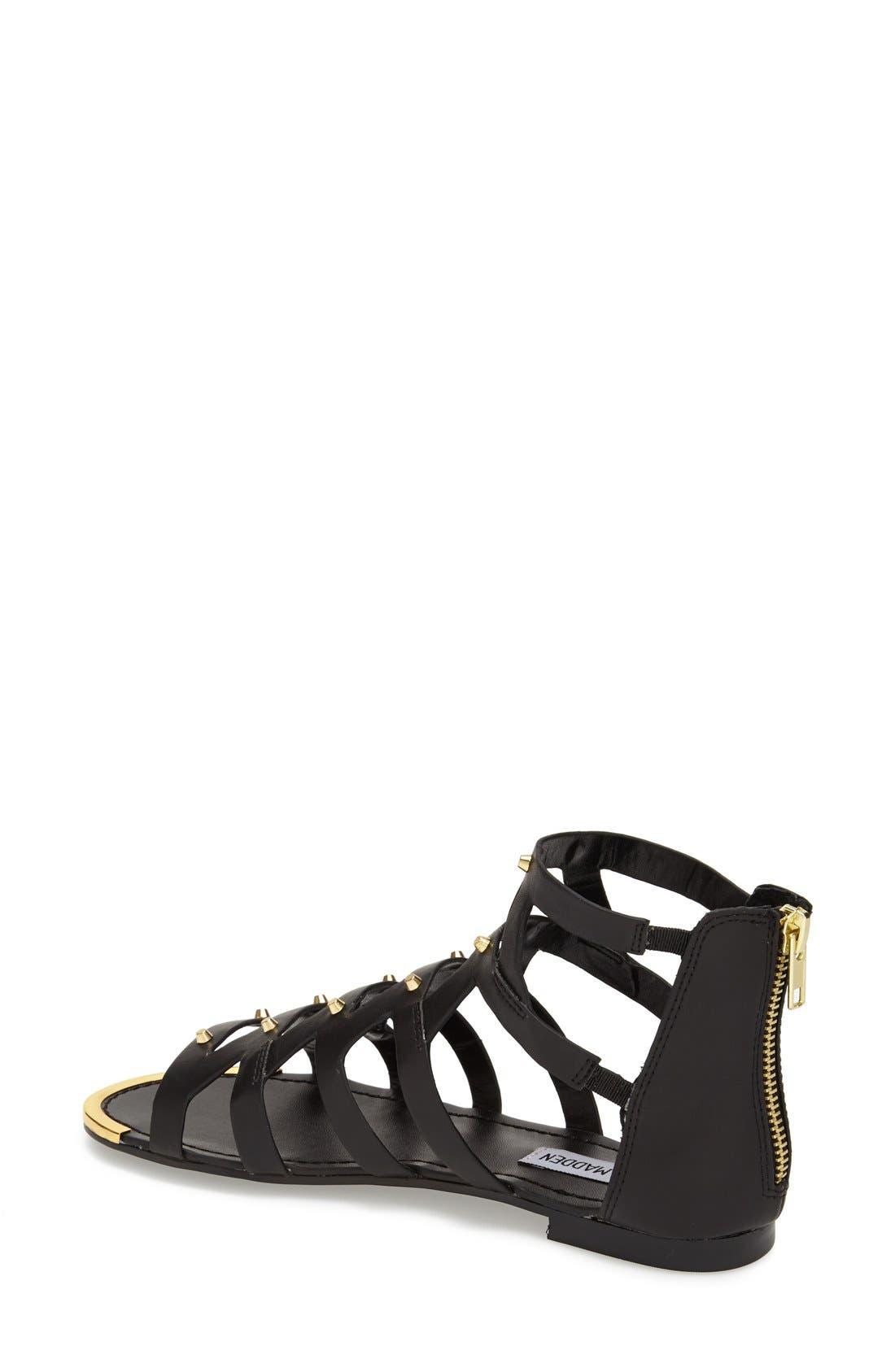 'Claudiaa' Studded Gladiator Sandal,                             Alternate thumbnail 4, color,                             005