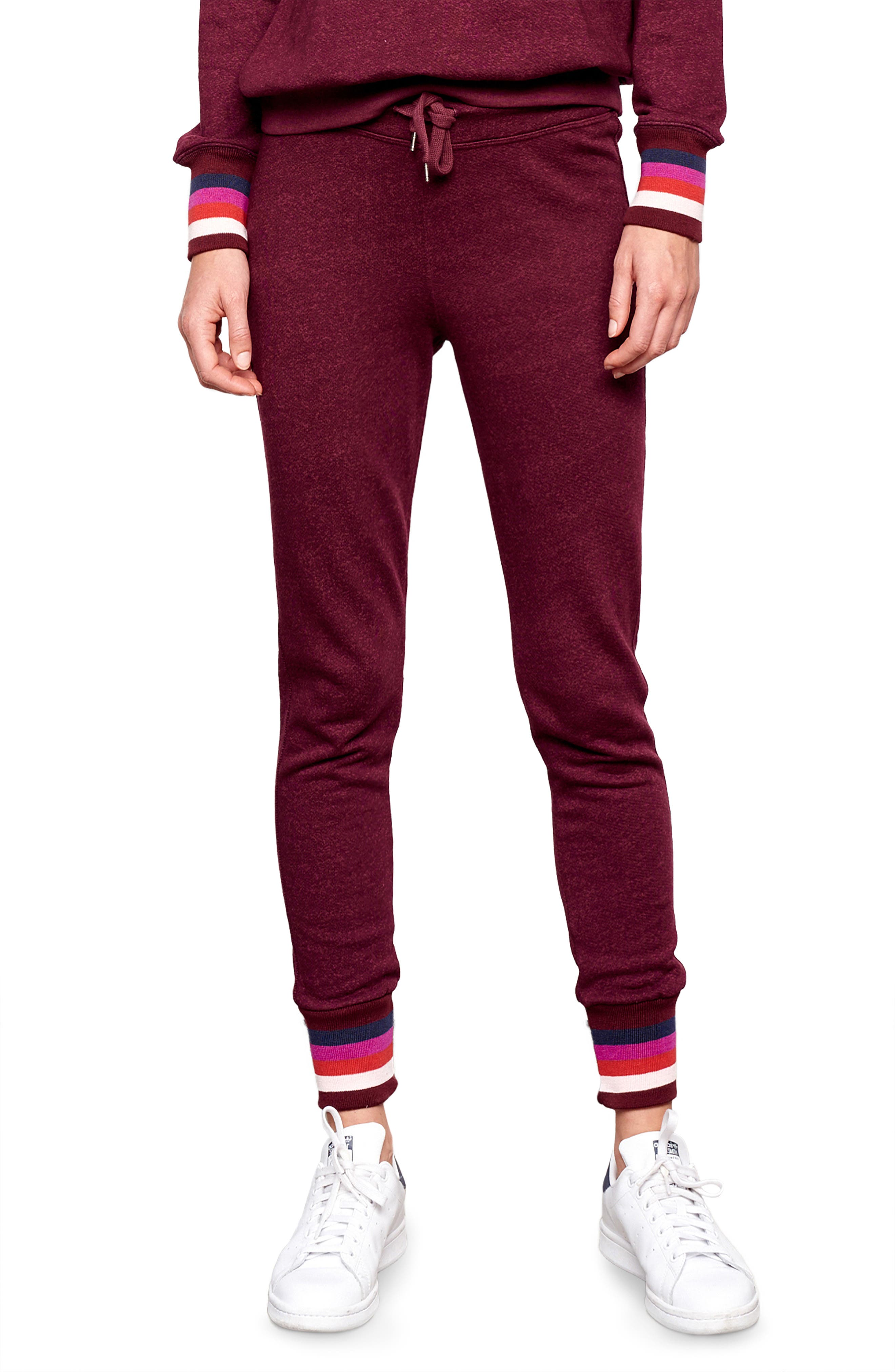 Stripe Cuff Sweatpants, Main, color, 930