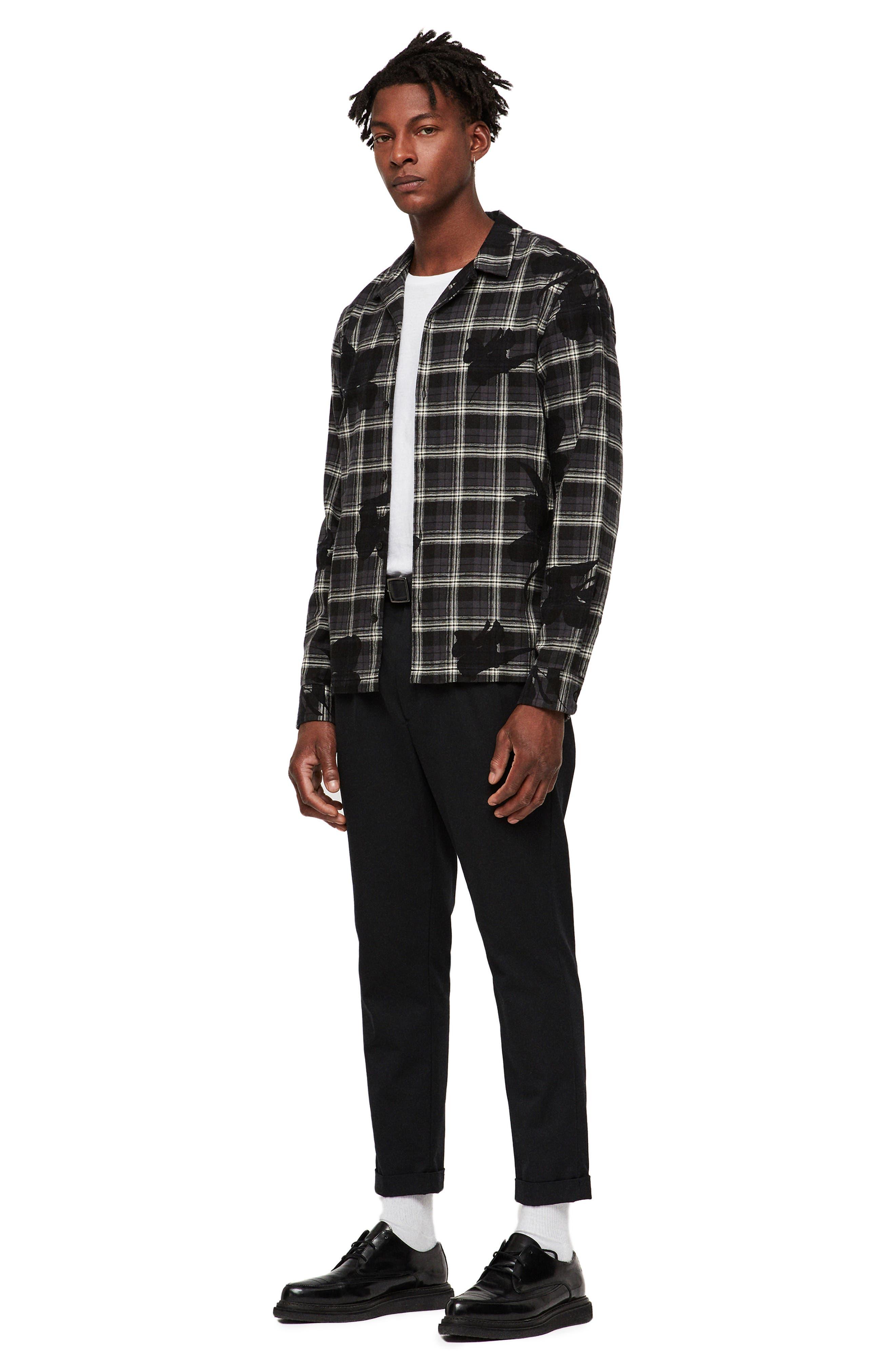 Lilyplaid Slim Fit Flannel Shirt,                             Alternate thumbnail 4, color,                             001