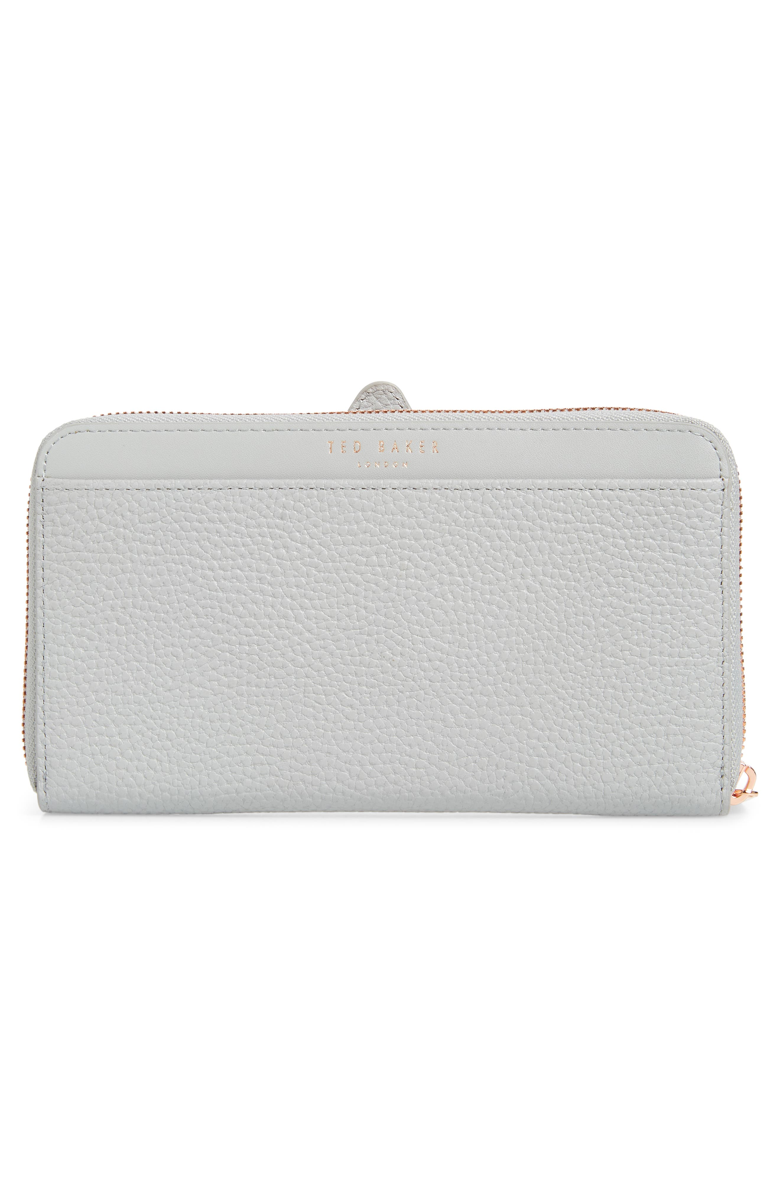 TED BAKER LONDON,                             Rumi Cotton Dog Zip Around Wallet,                             Alternate thumbnail 3, color,                             GREY