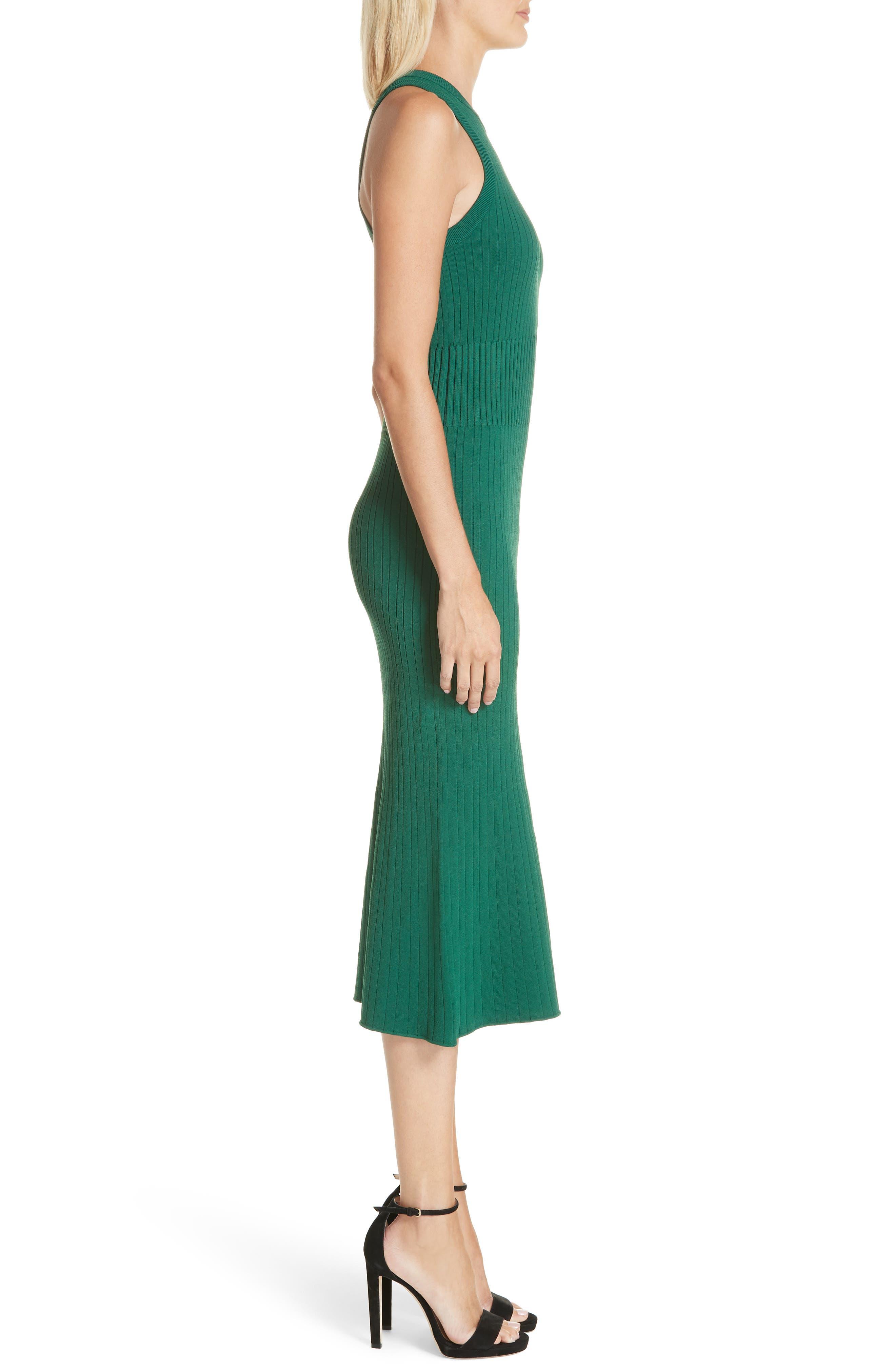 Rib Knit Midi Dress,                             Alternate thumbnail 5, color,