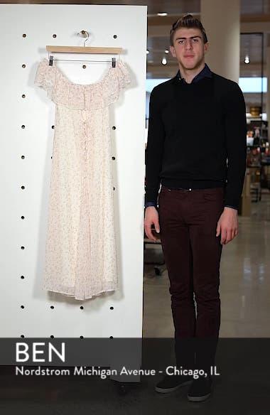 Florence Lace Off the Shoulder Midi Dress, sales video thumbnail