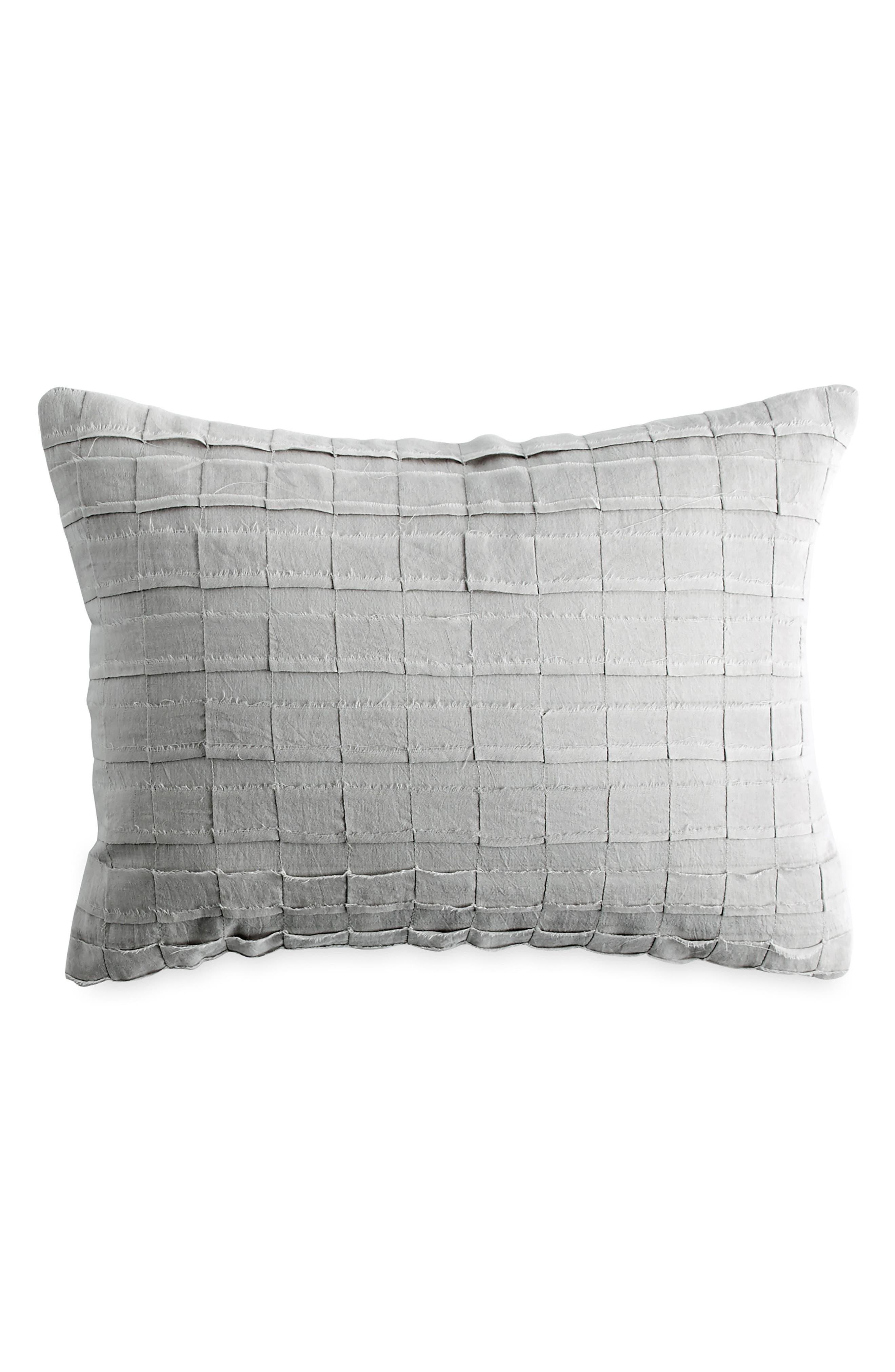 Accent Pillow,                             Main thumbnail 1, color,                             PLATINUM