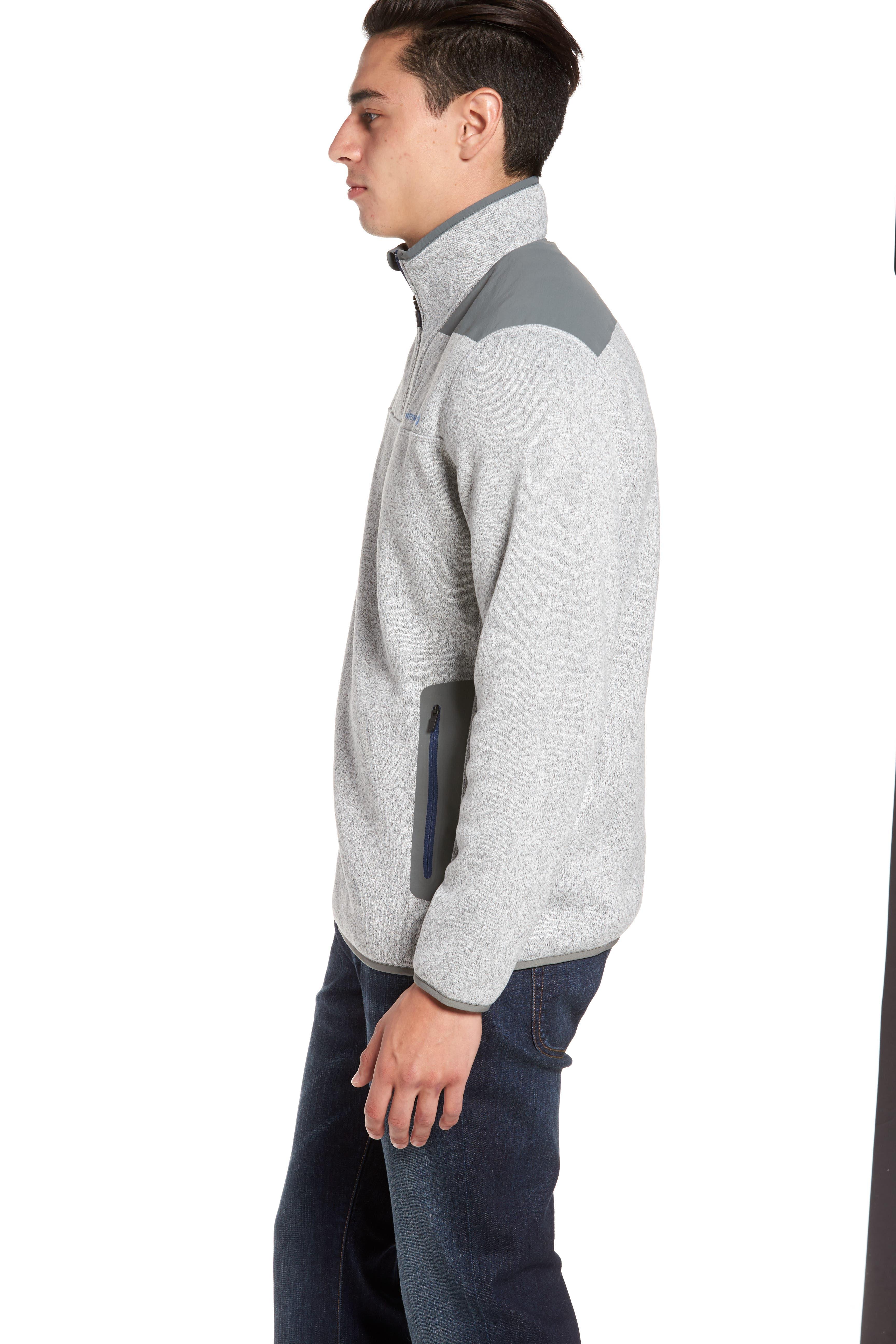 Shep Quarter Zip Fleece Sweater,                             Alternate thumbnail 3, color,                             039