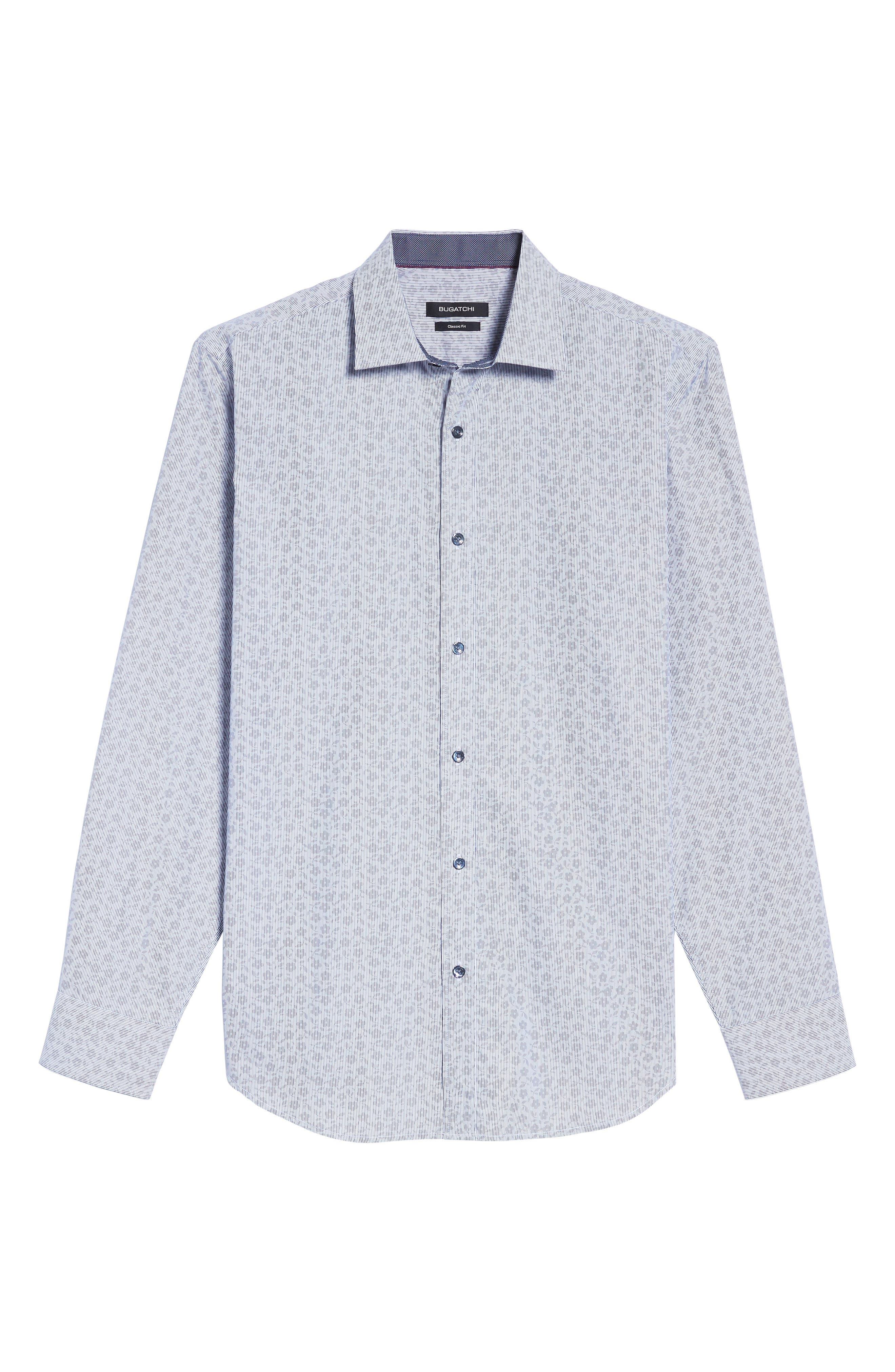 Classic Fit Floral Pinstripe Sport Shirt,                             Alternate thumbnail 6, color,                             030