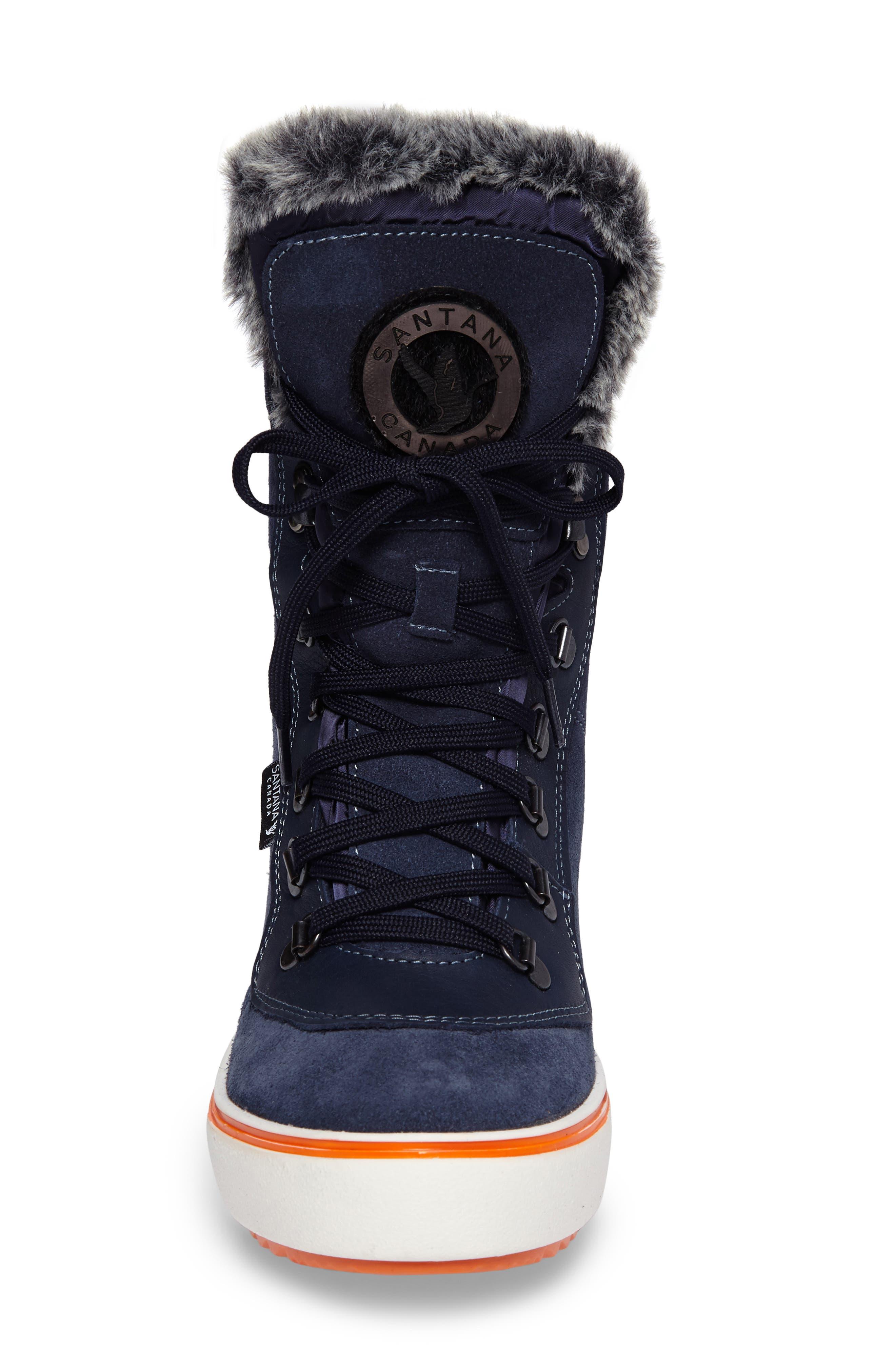 Mixx Faux Fur Waterproof Boot,                             Alternate thumbnail 4, color,                             410
