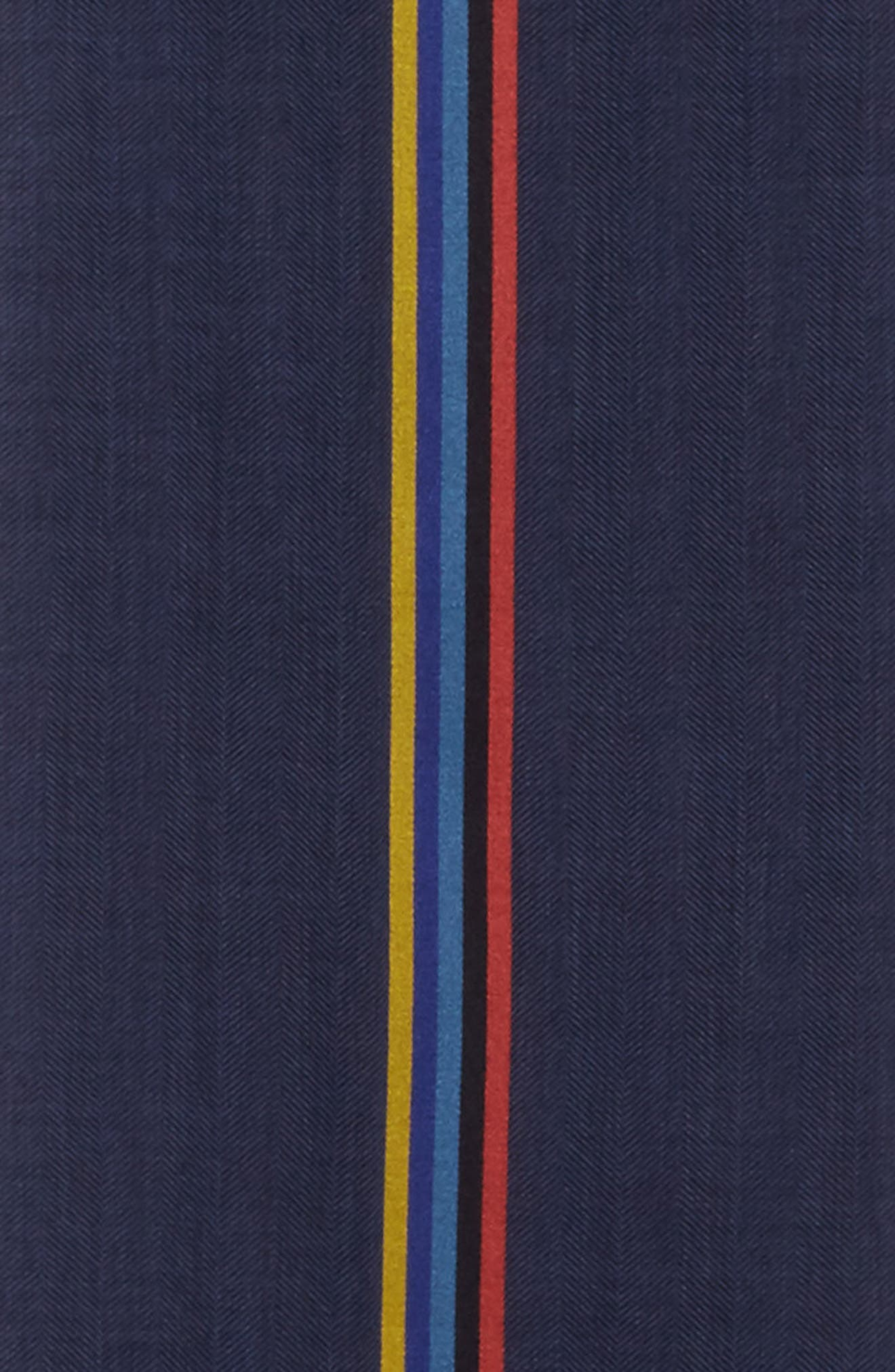 Central Stripe Wool & Silk Scarf,                             Alternate thumbnail 9, color,