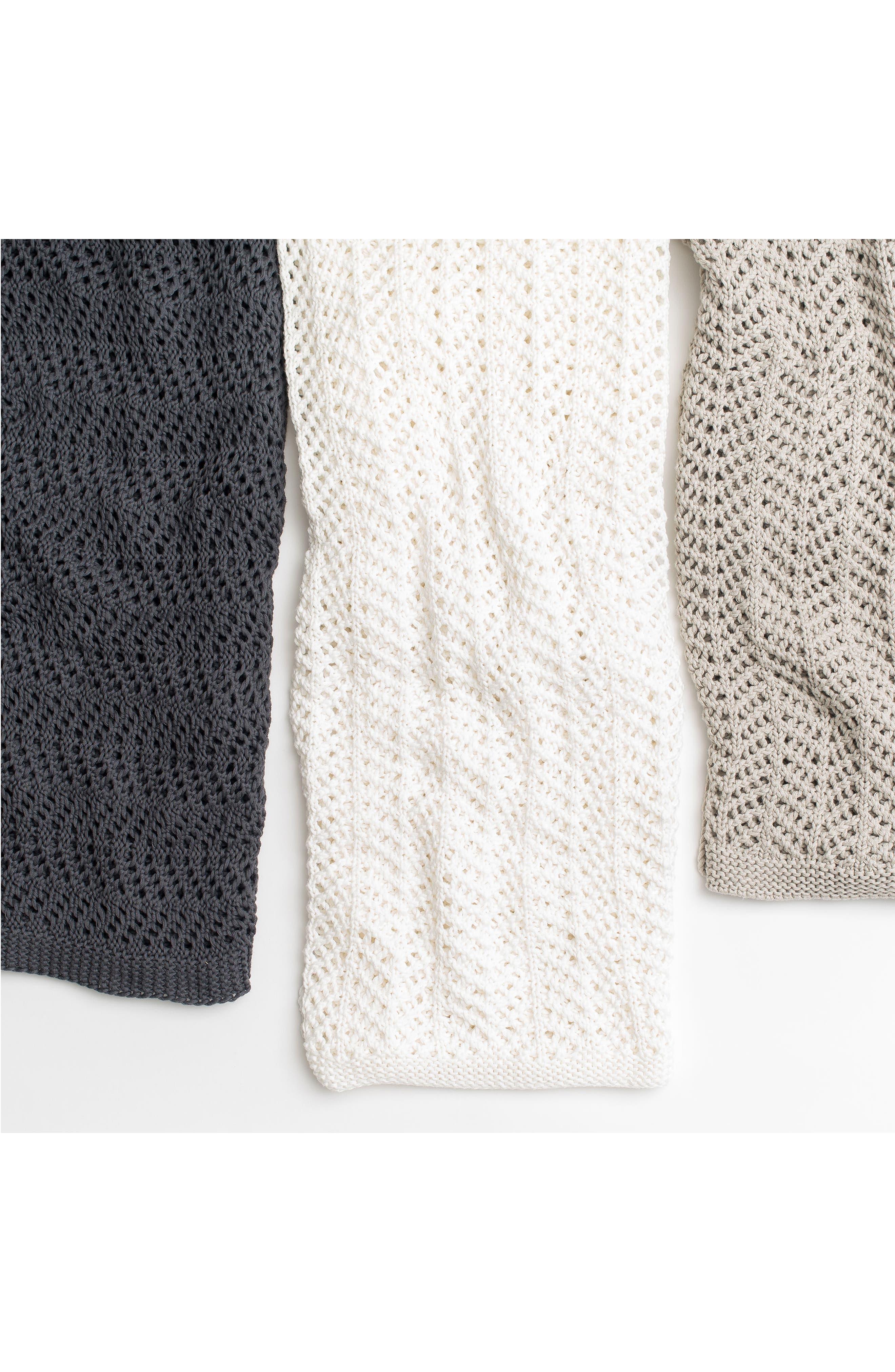 Organic Cotton Boho Knit Throw,                             Alternate thumbnail 2, color,                             010