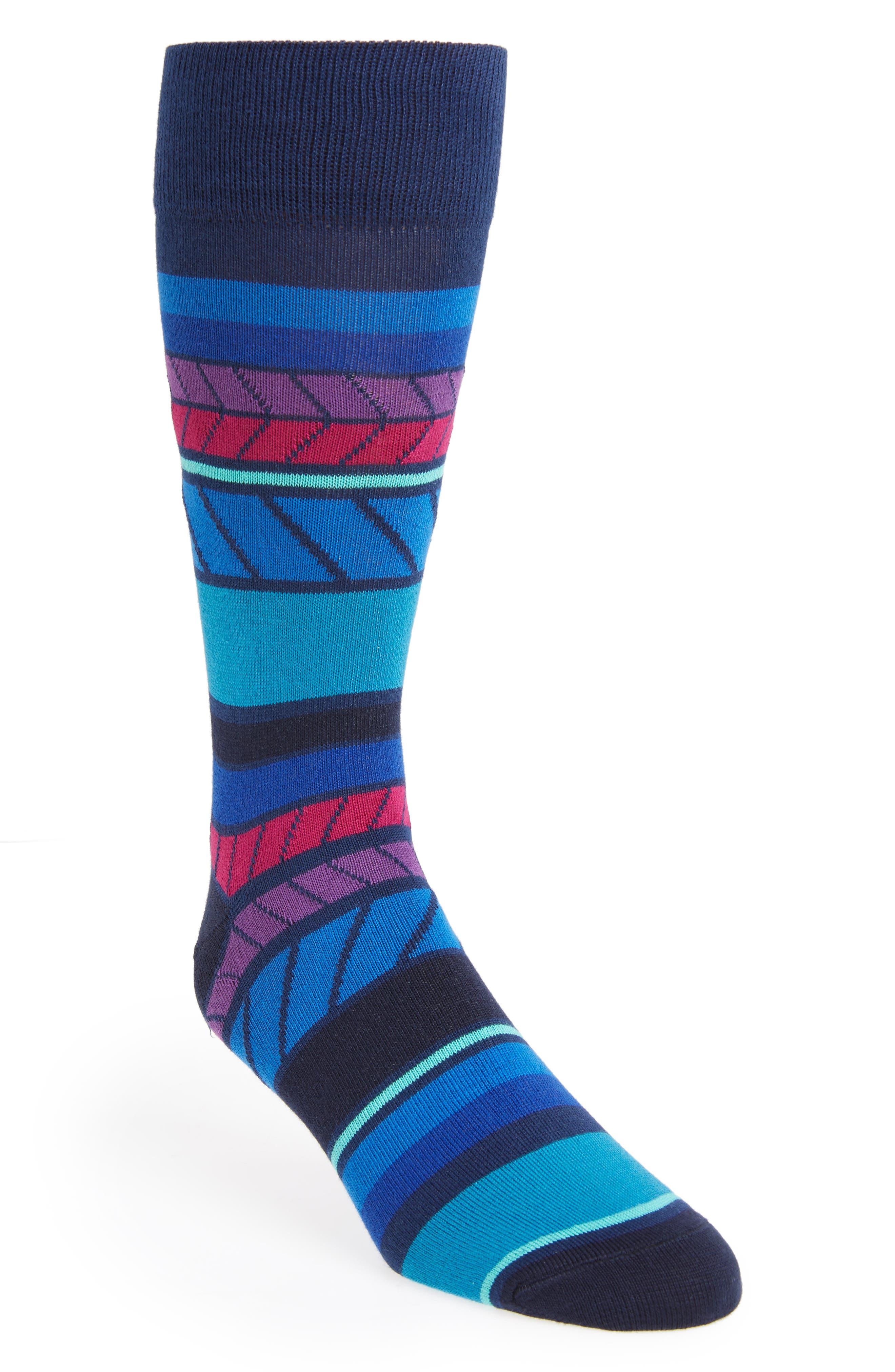 Eden Stripe Socks,                         Main,                         color, 415