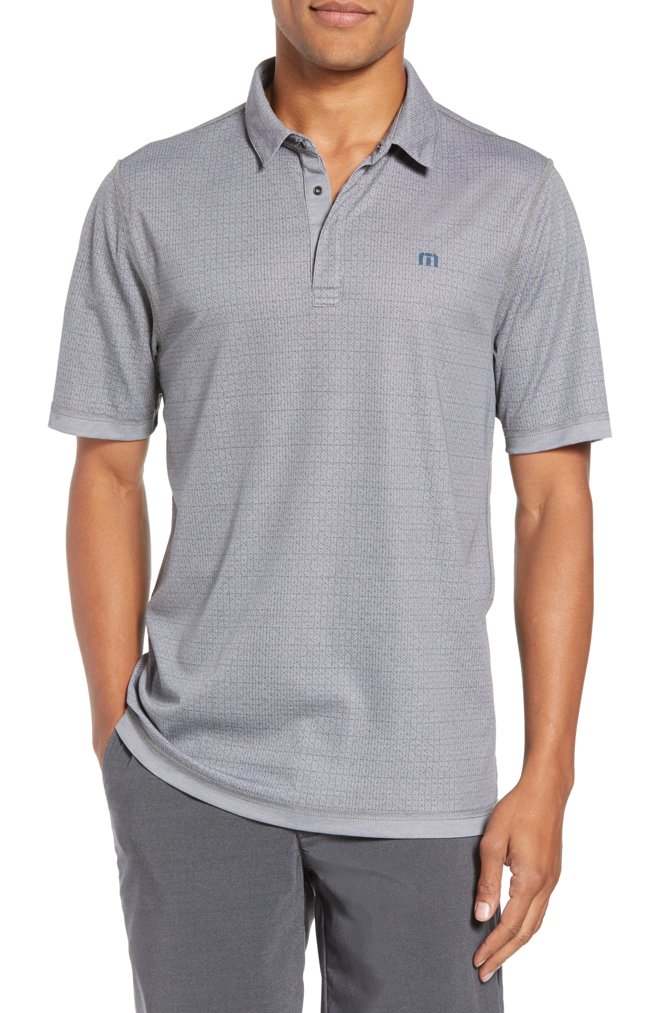 Reverse It Regular Fit Polo,                         Main,                         color, HEATHER QUIET SHADE
