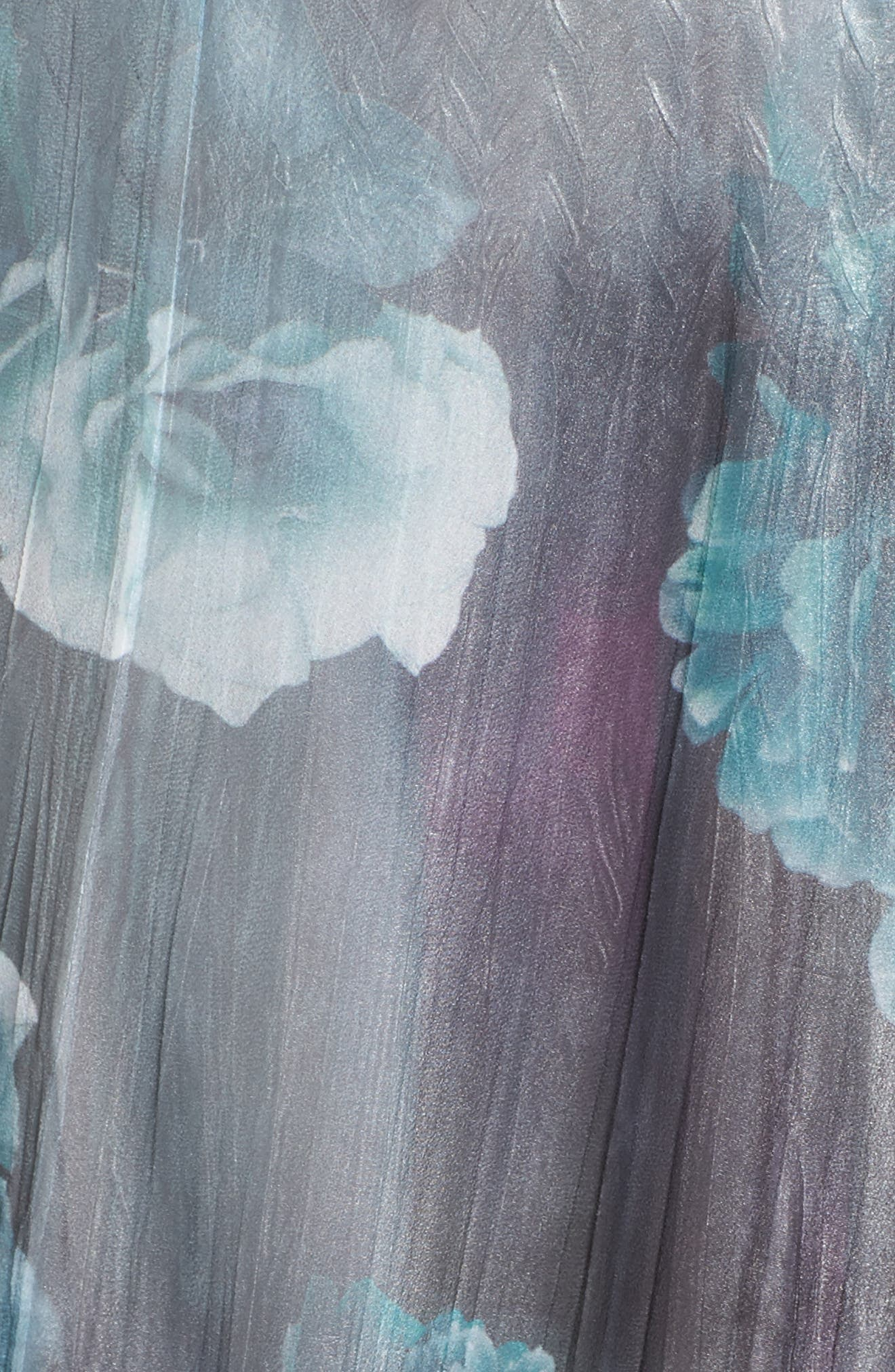 Floral Chiffon Dress,                             Alternate thumbnail 5, color,                             JADE MIST