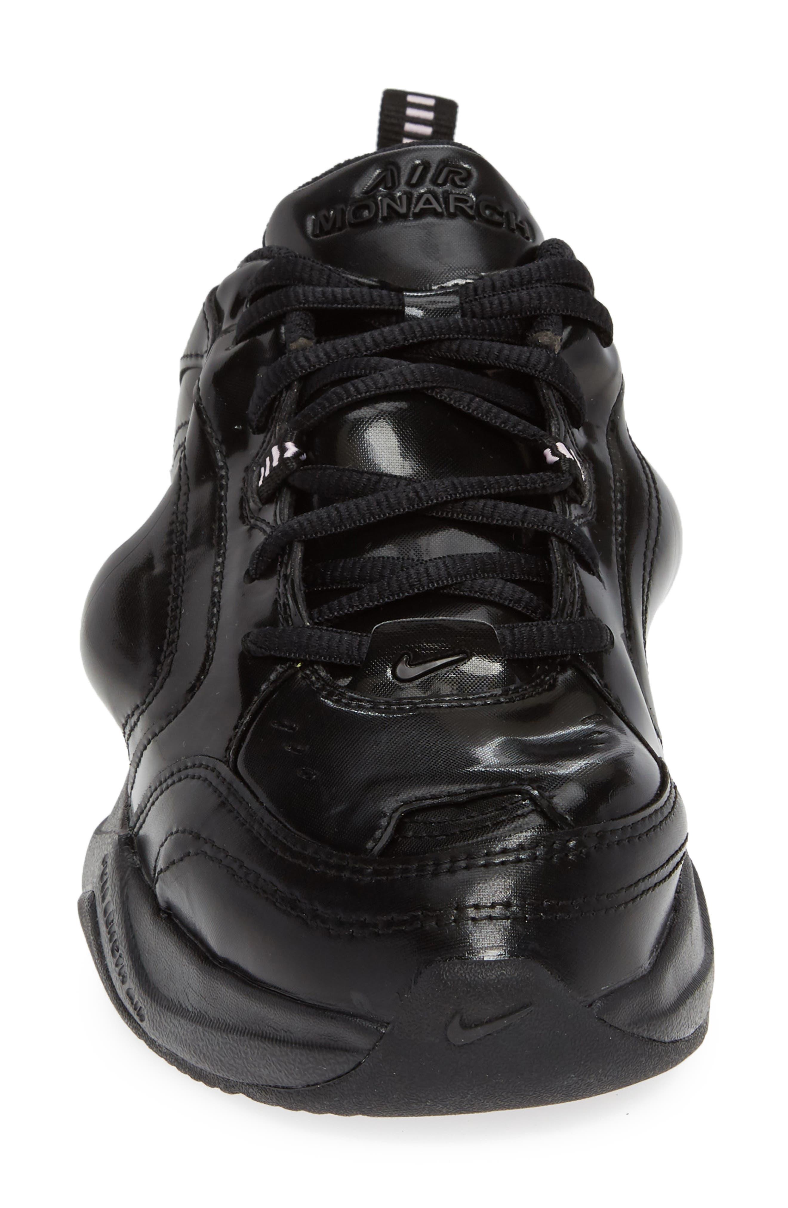 x Martine Rose Air Monarch IV Sneaker,                             Alternate thumbnail 4, color,                             BLACK/ SOFT PINK