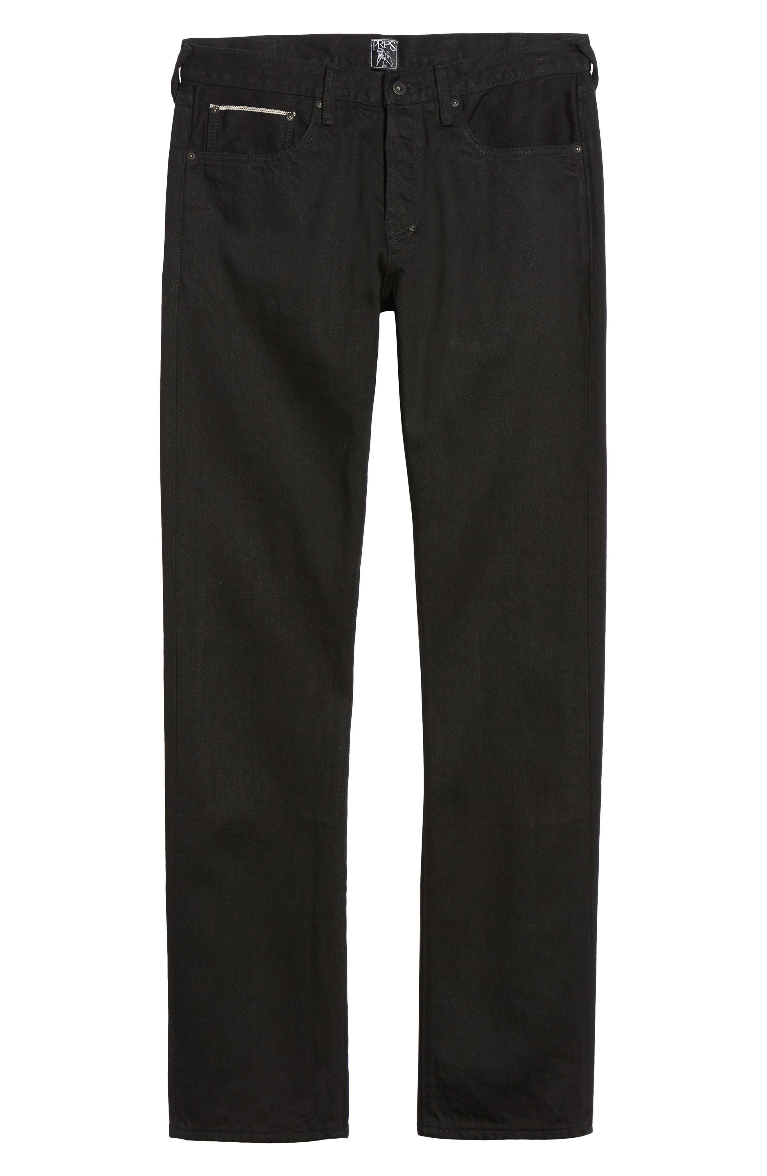 Demon Slim Straight Leg Jeans,                             Alternate thumbnail 6, color,