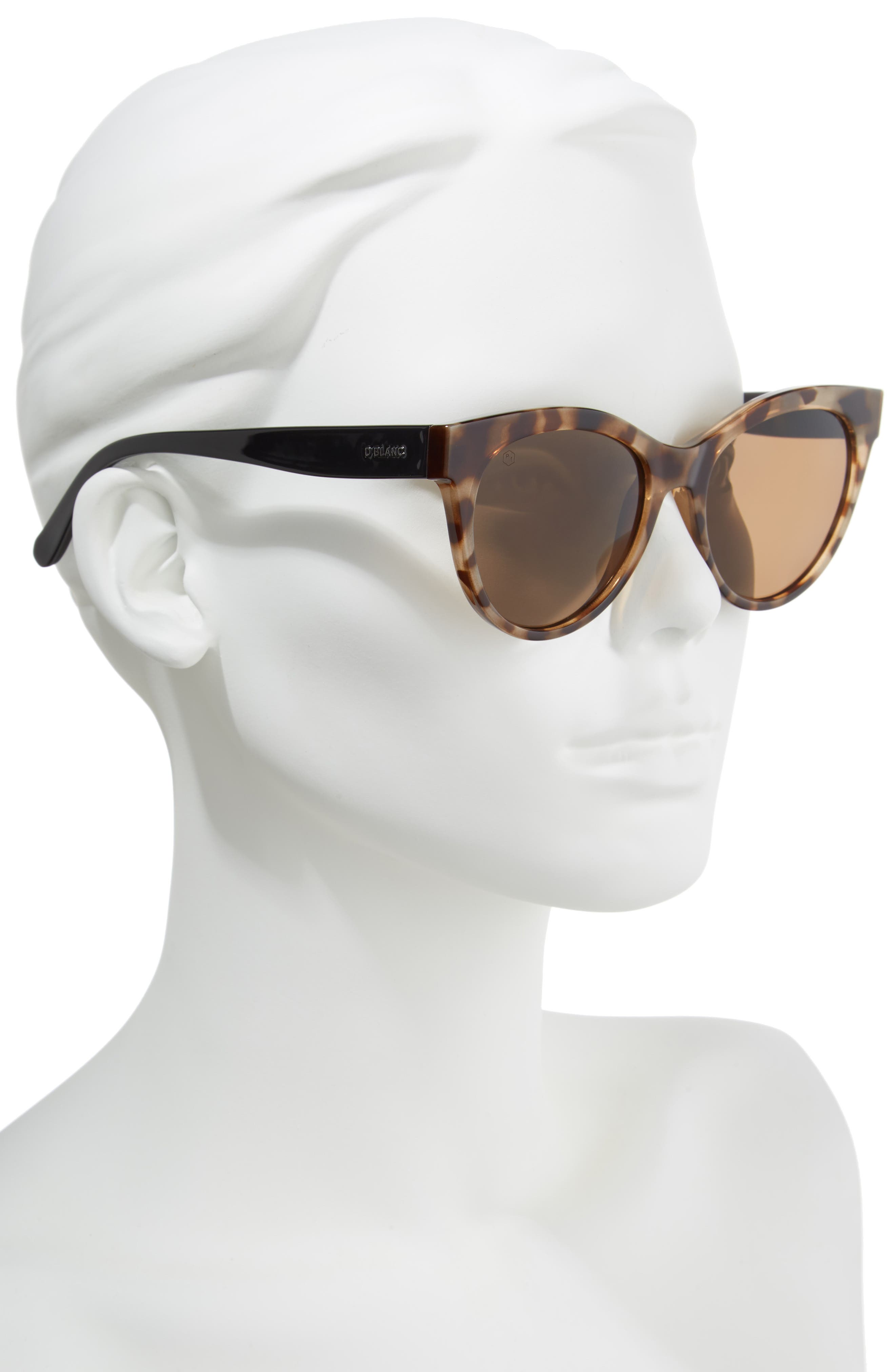 D'BLANC Felicity 54mm Polarized Sunglasses,                             Alternate thumbnail 2, color,                             200