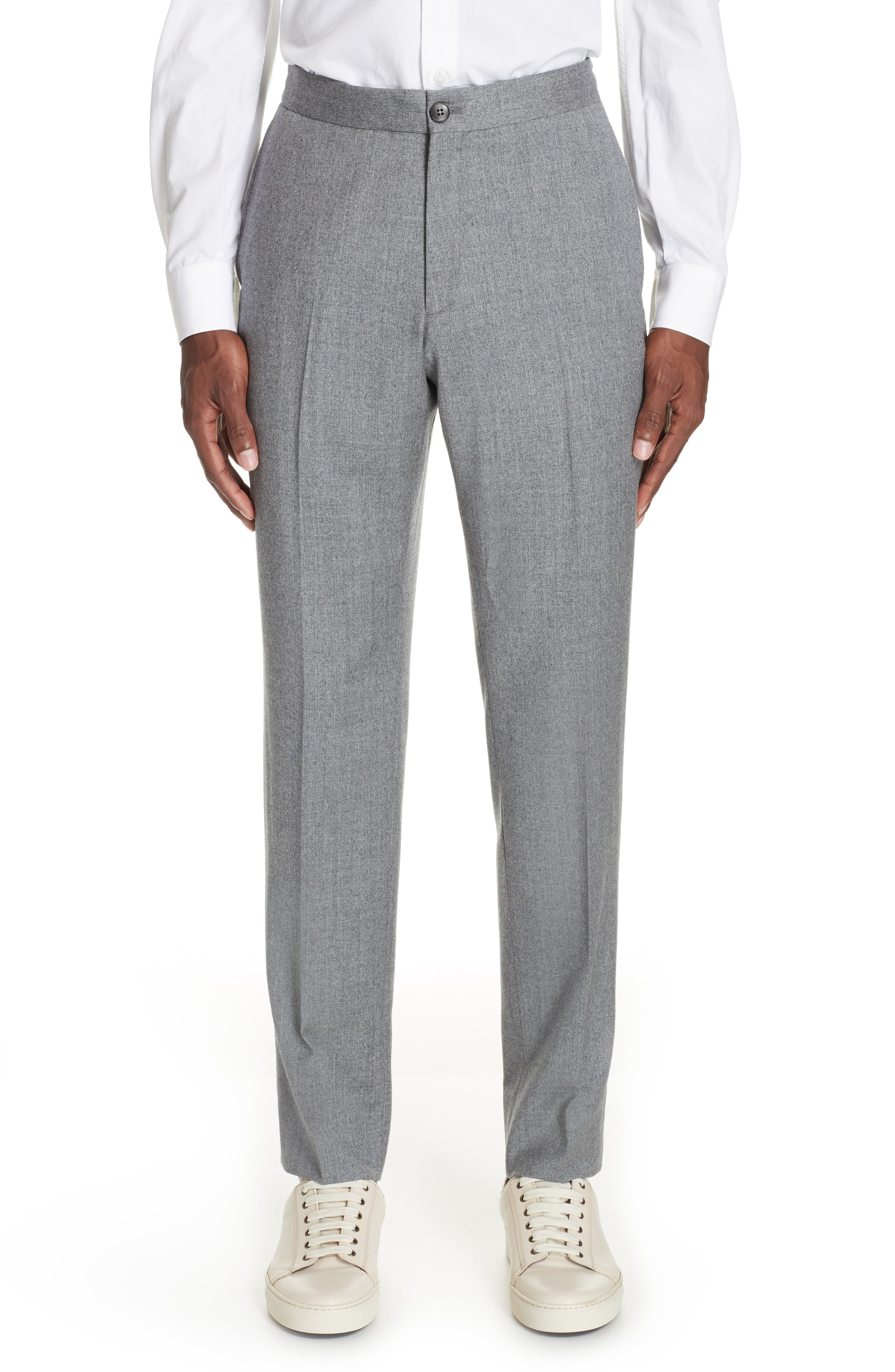 Wash and Go Trim Fit Solid Wool Suit,                             Alternate thumbnail 6, color,                             SILVER