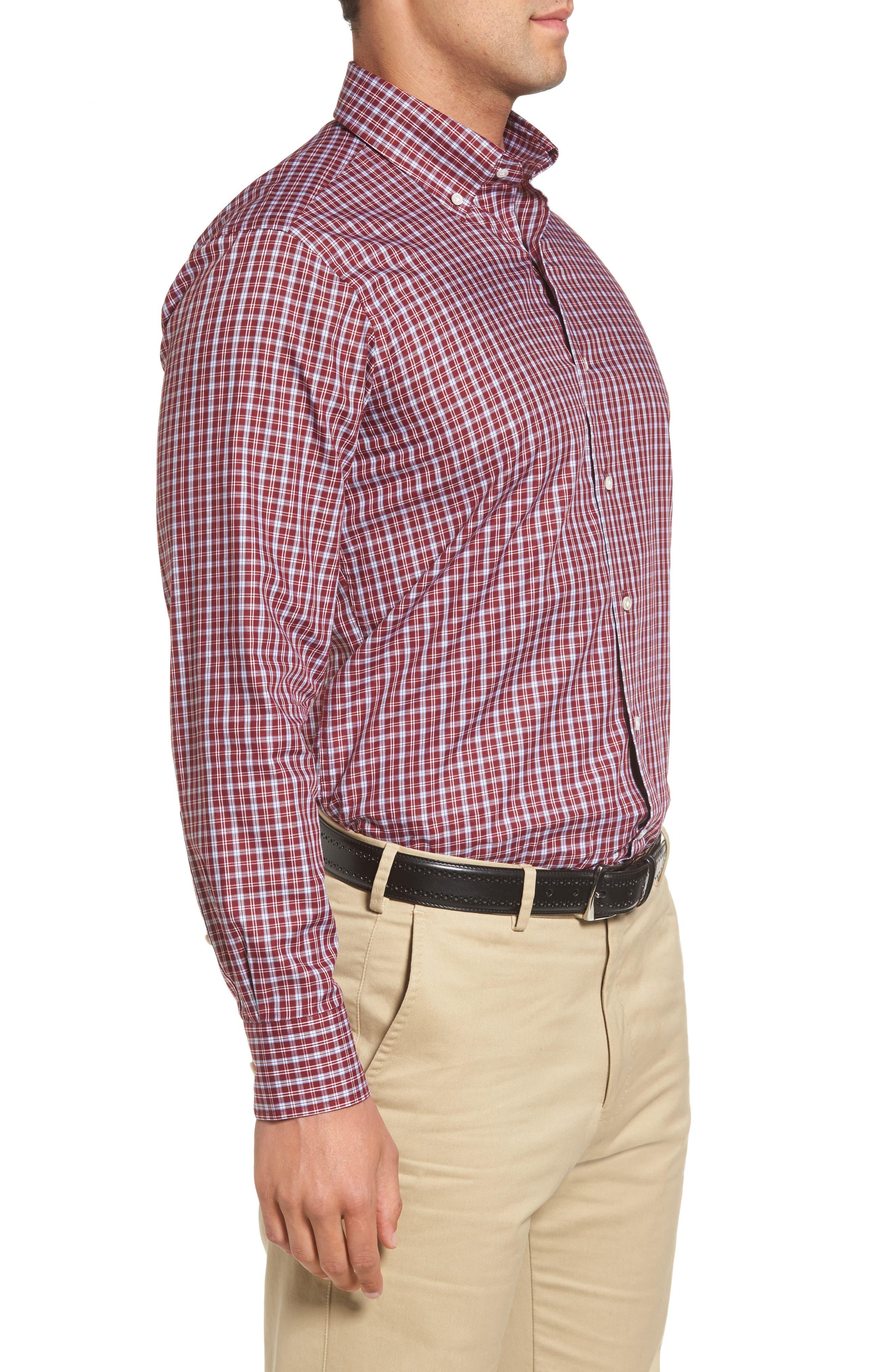 Peter Millar Isle Check Regular Fit Sport Shirt,                             Alternate thumbnail 3, color,                             930