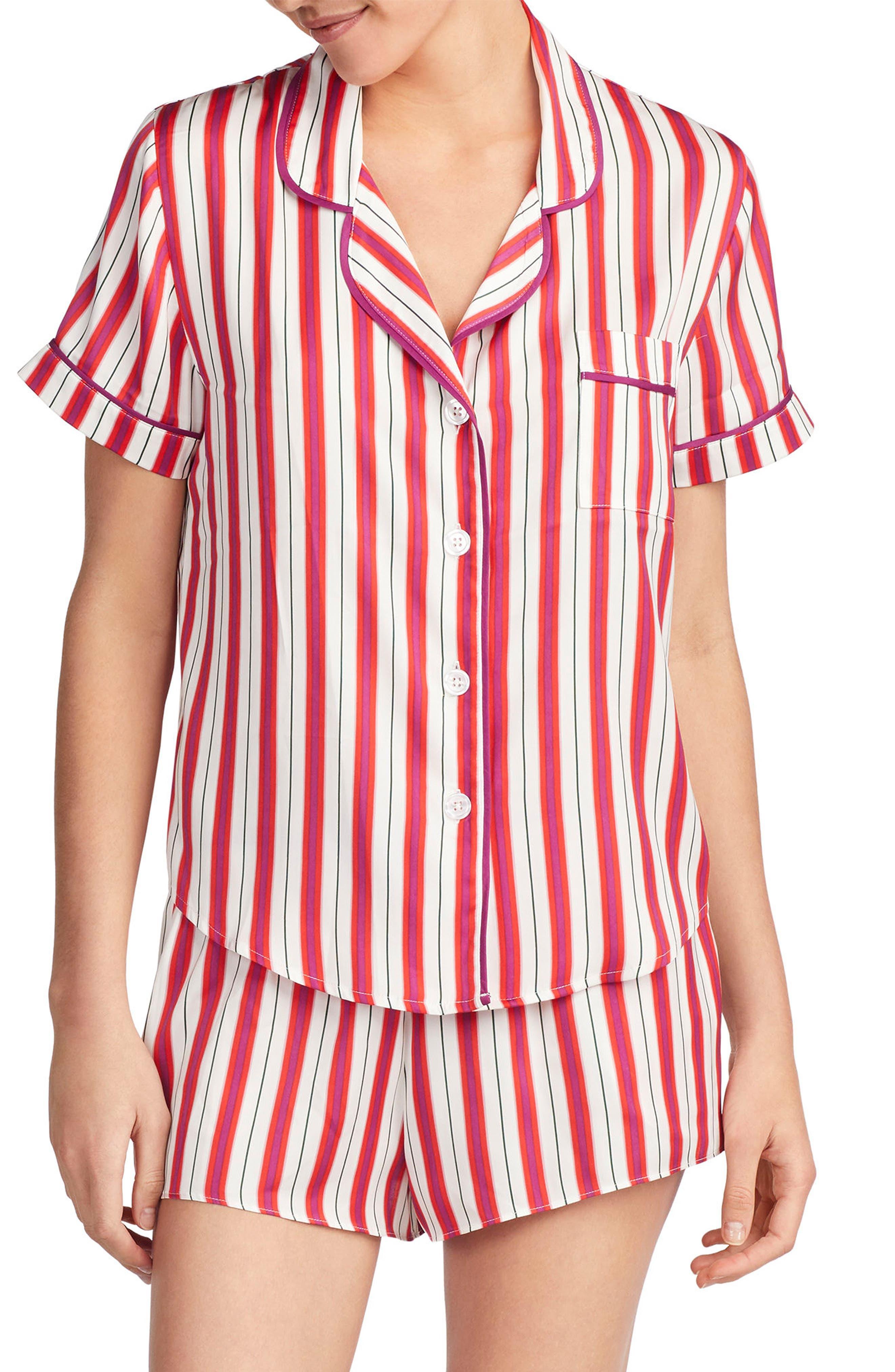Satin Pajama Top,                             Main thumbnail 4, color,