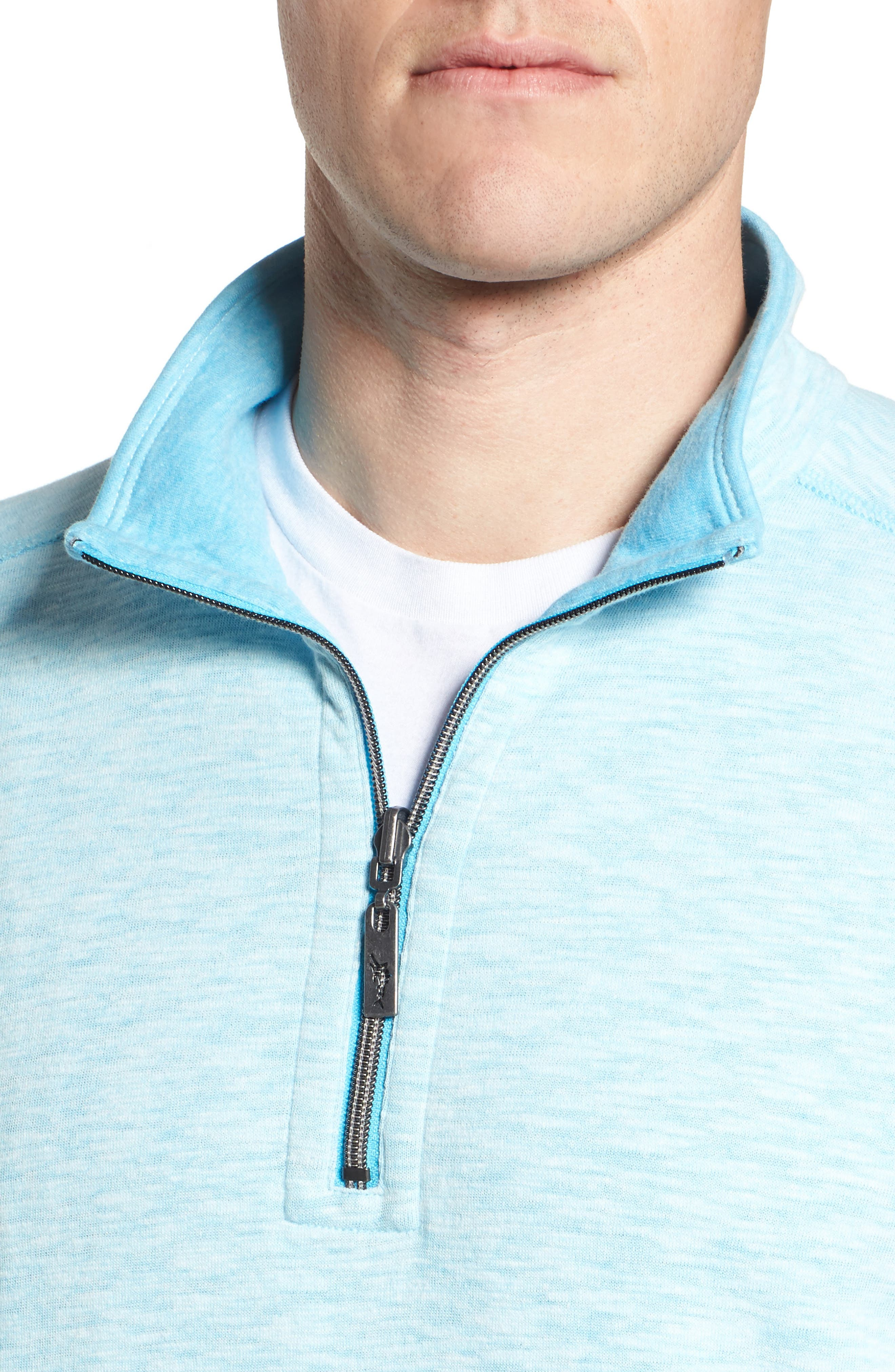 Sea Glass Reversible Quarter Zip Pullover,                             Alternate thumbnail 39, color,