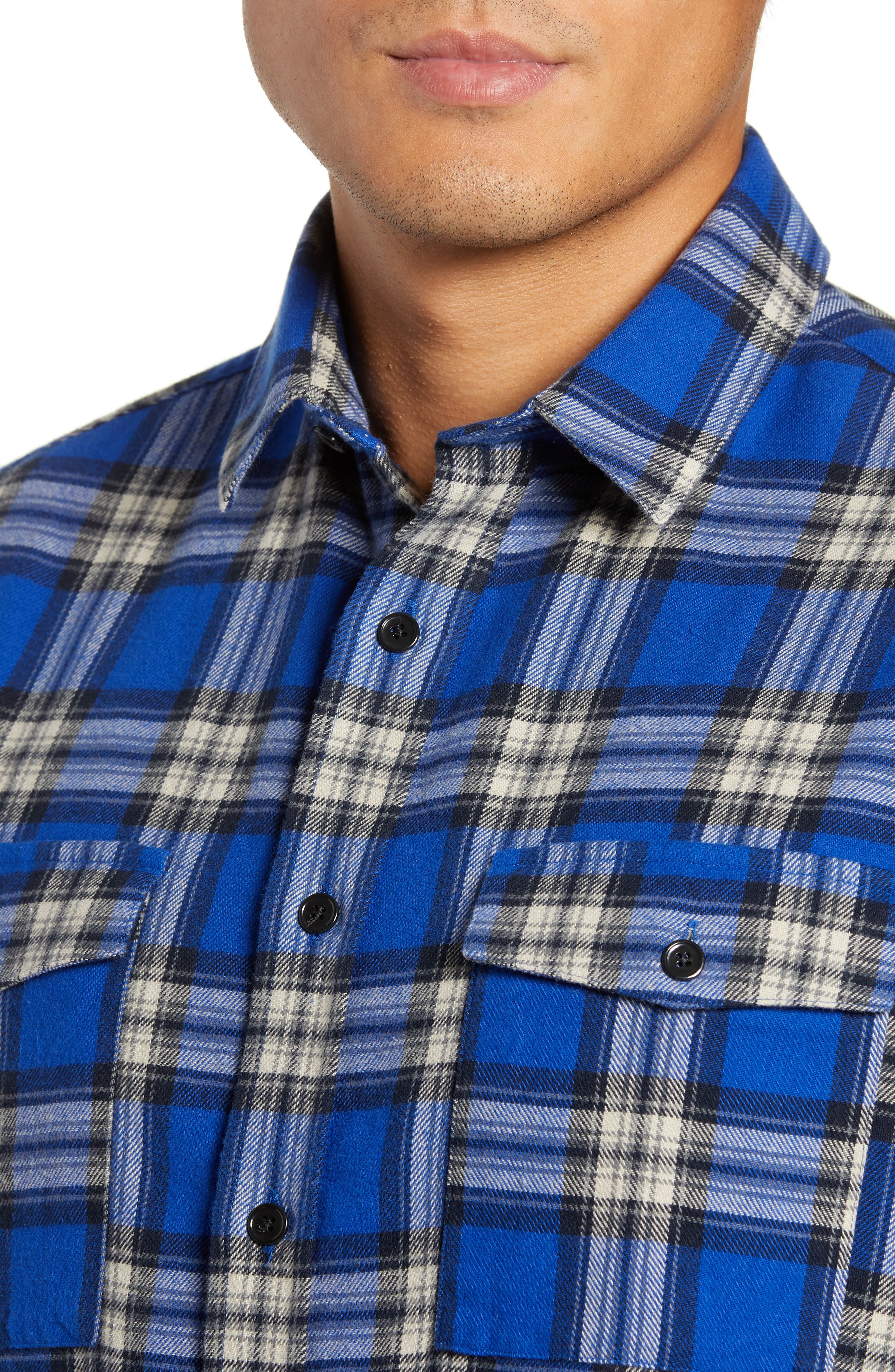 THE KOOPLES,                             Check Flannel Shirt,                             Alternate thumbnail 2, color,                             400